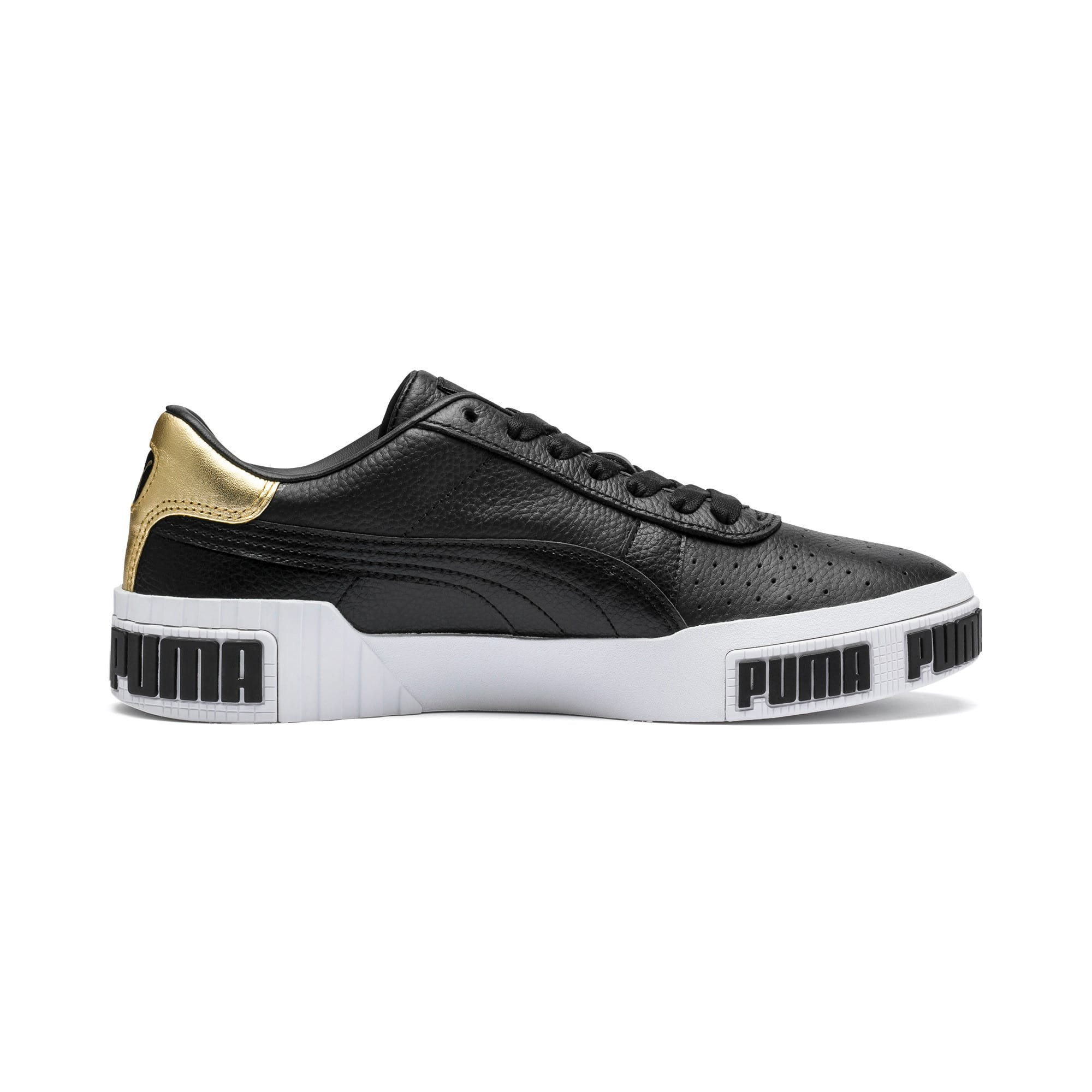 Thumbnail 5 of Cali Bold Metallic sportschoenen voor dames, Puma Black-Gold, medium