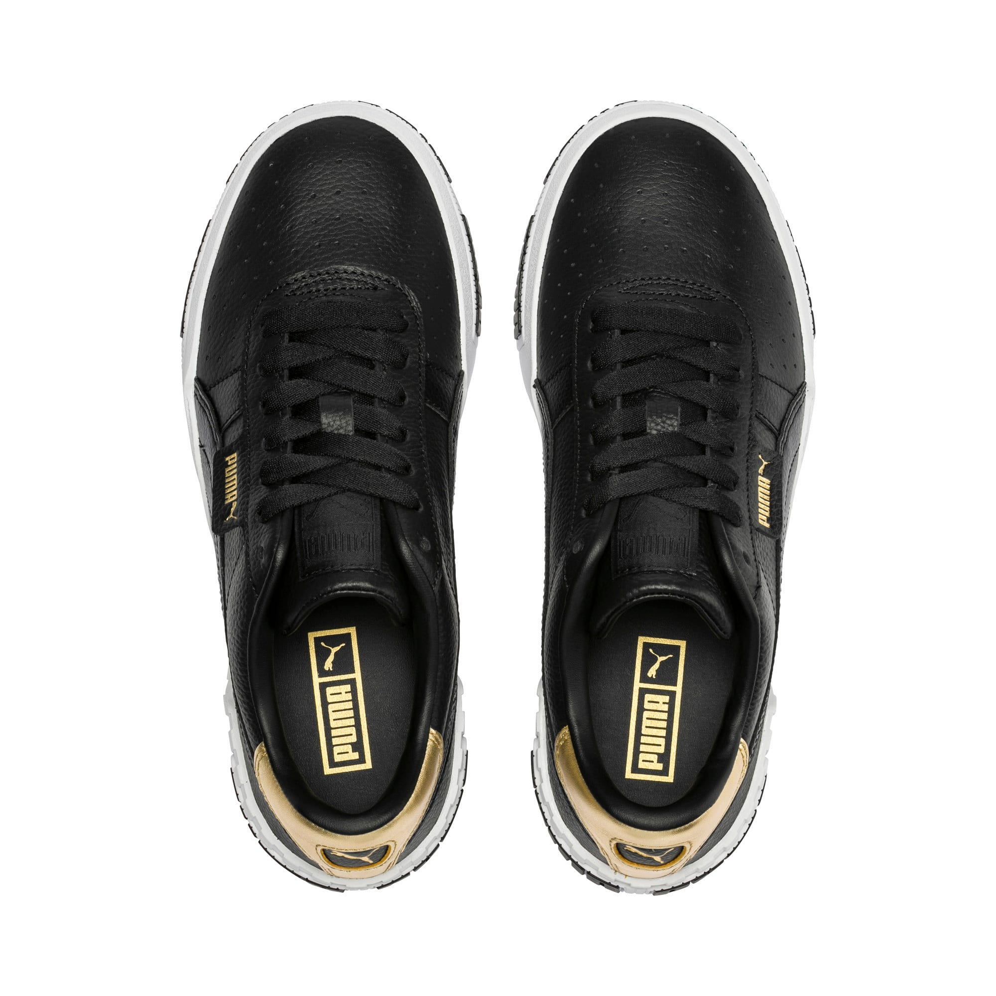 Thumbnail 6 of Cali Bold Metallic sportschoenen voor dames, Puma Black-Gold, medium