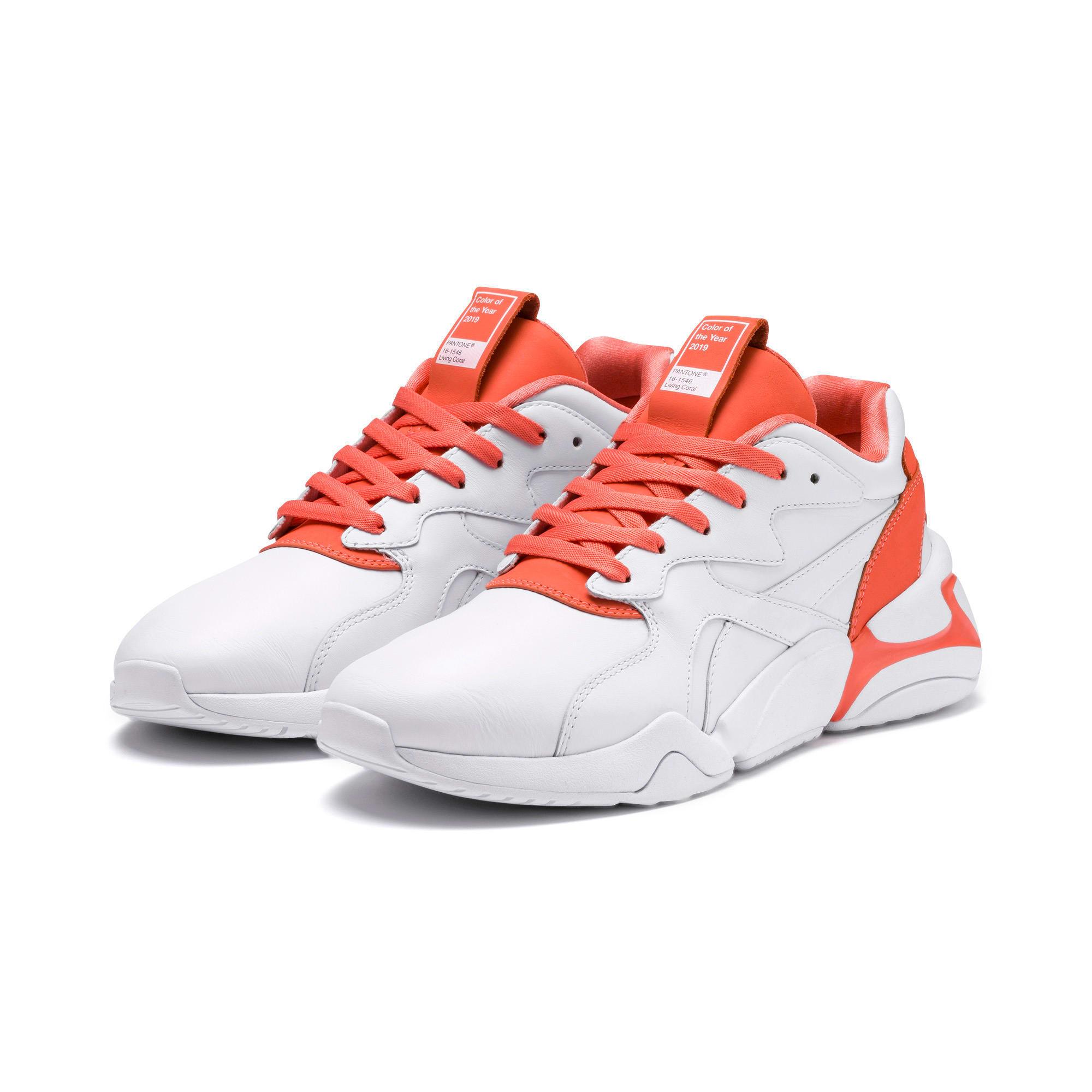 Thumbnail 2 of Nova x Pantone 2 Women's Sneakers, Puma White-Living Coral, medium
