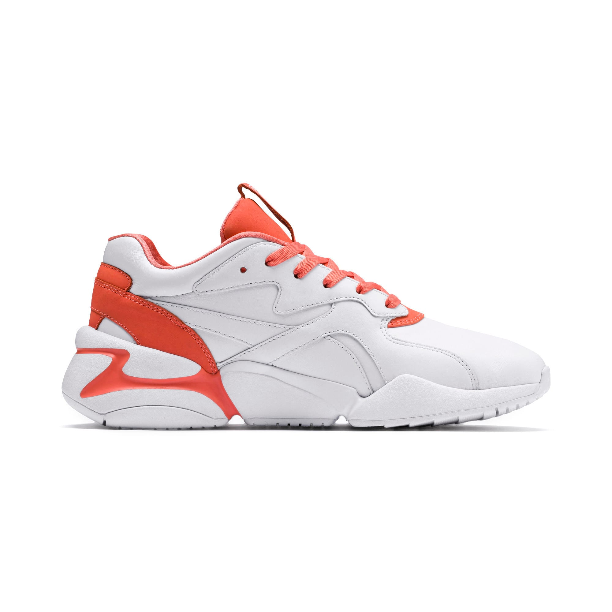 Thumbnail 5 of Nova x Pantone 2 Women's Sneakers, Puma White-Living Coral, medium