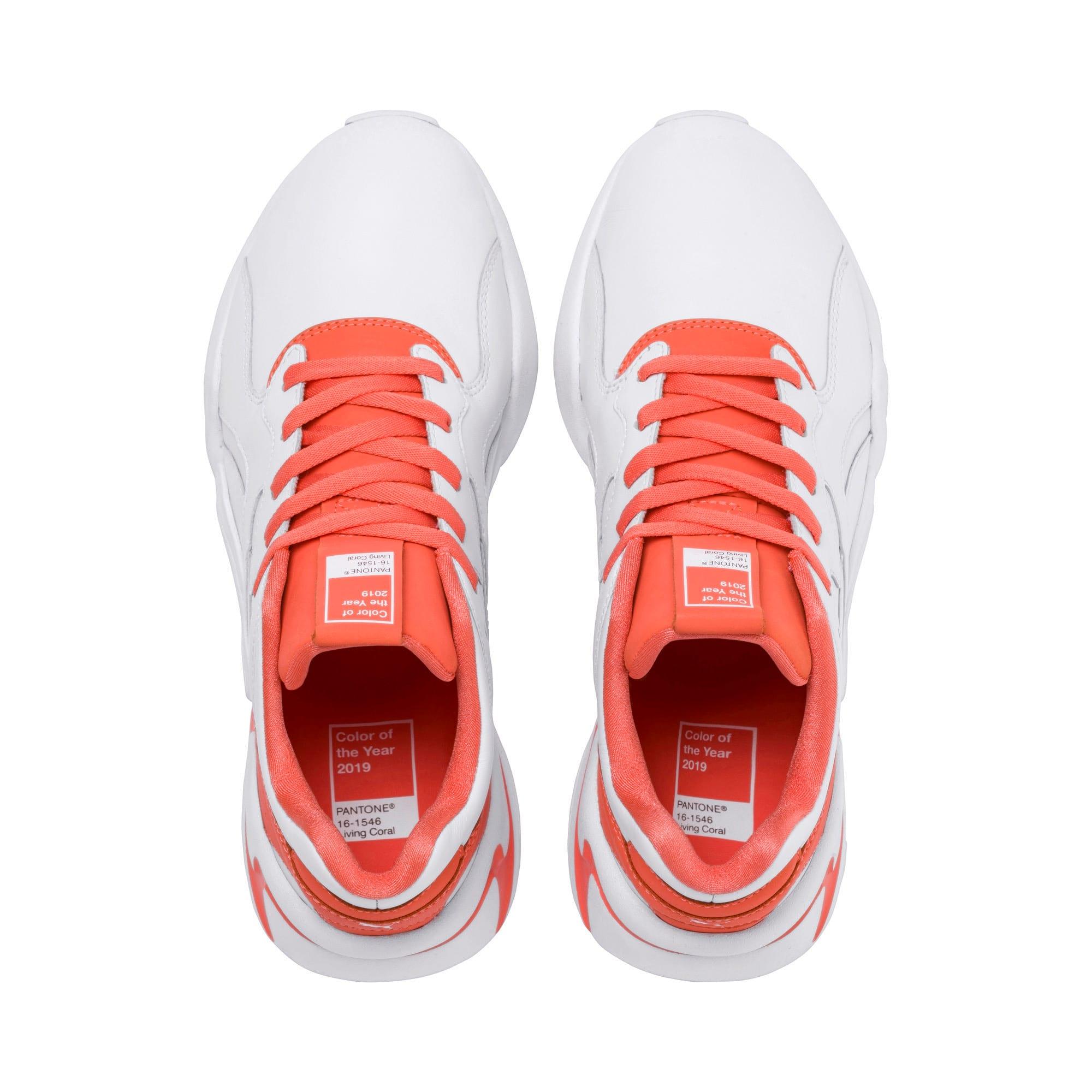 Thumbnail 6 of Nova x Pantone 2 Women's Sneakers, Puma White-Living Coral, medium