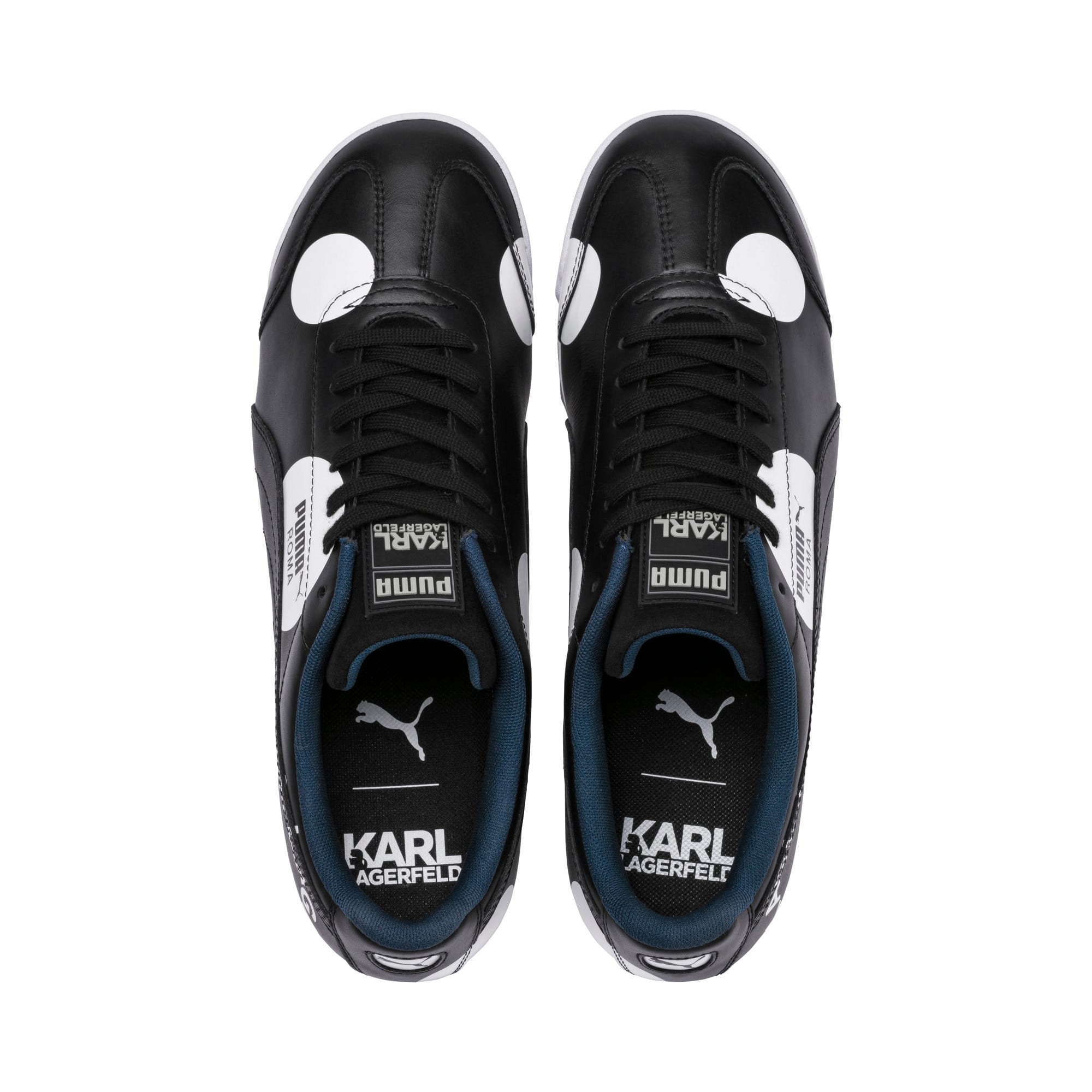Thumbnail 6 of PUMA x KARL LAGERFELD Roma Trainers, Puma Black, medium