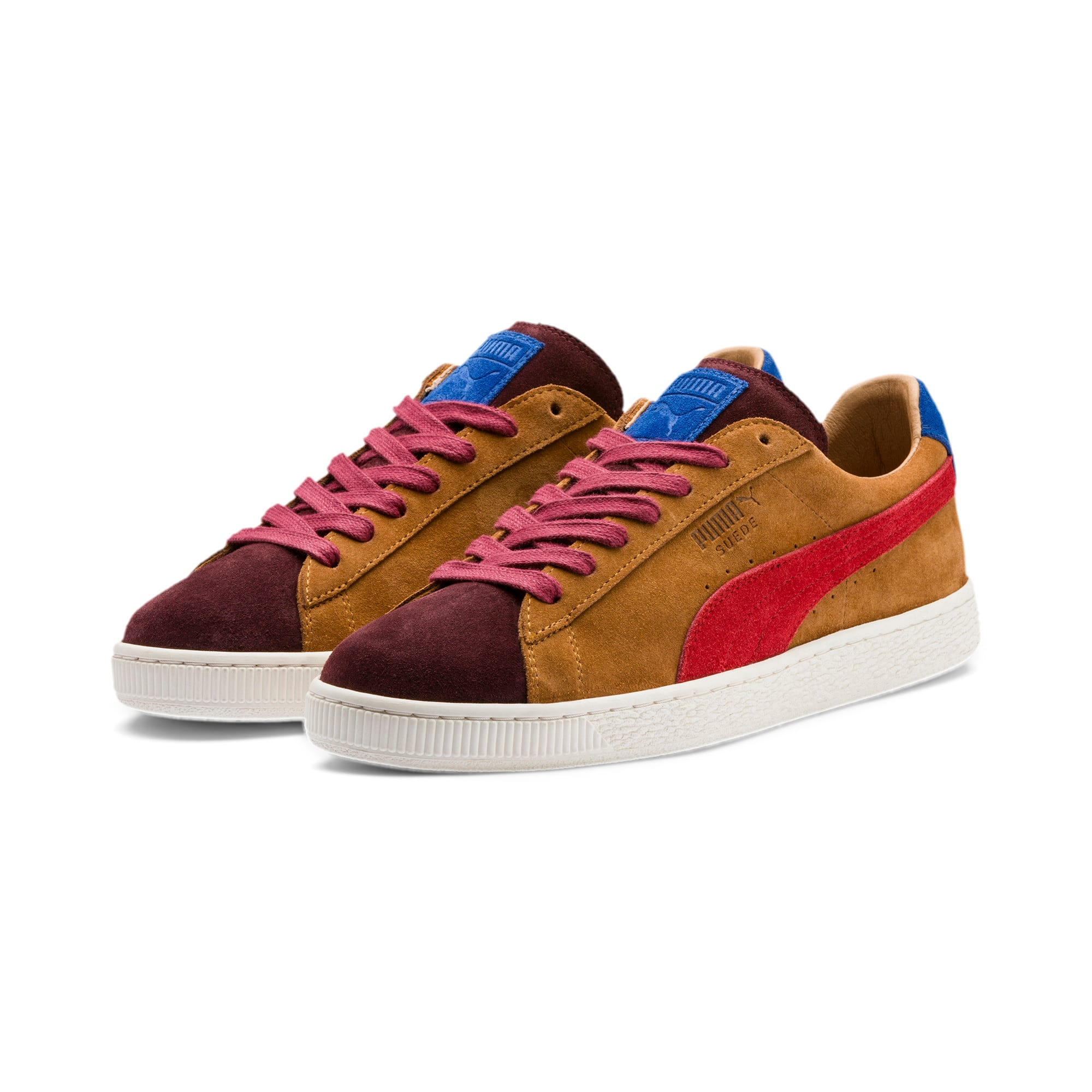 Thumbnail 3 of Suede MIE Sneakers, B. Brown-T. Red-H. R. Red, medium