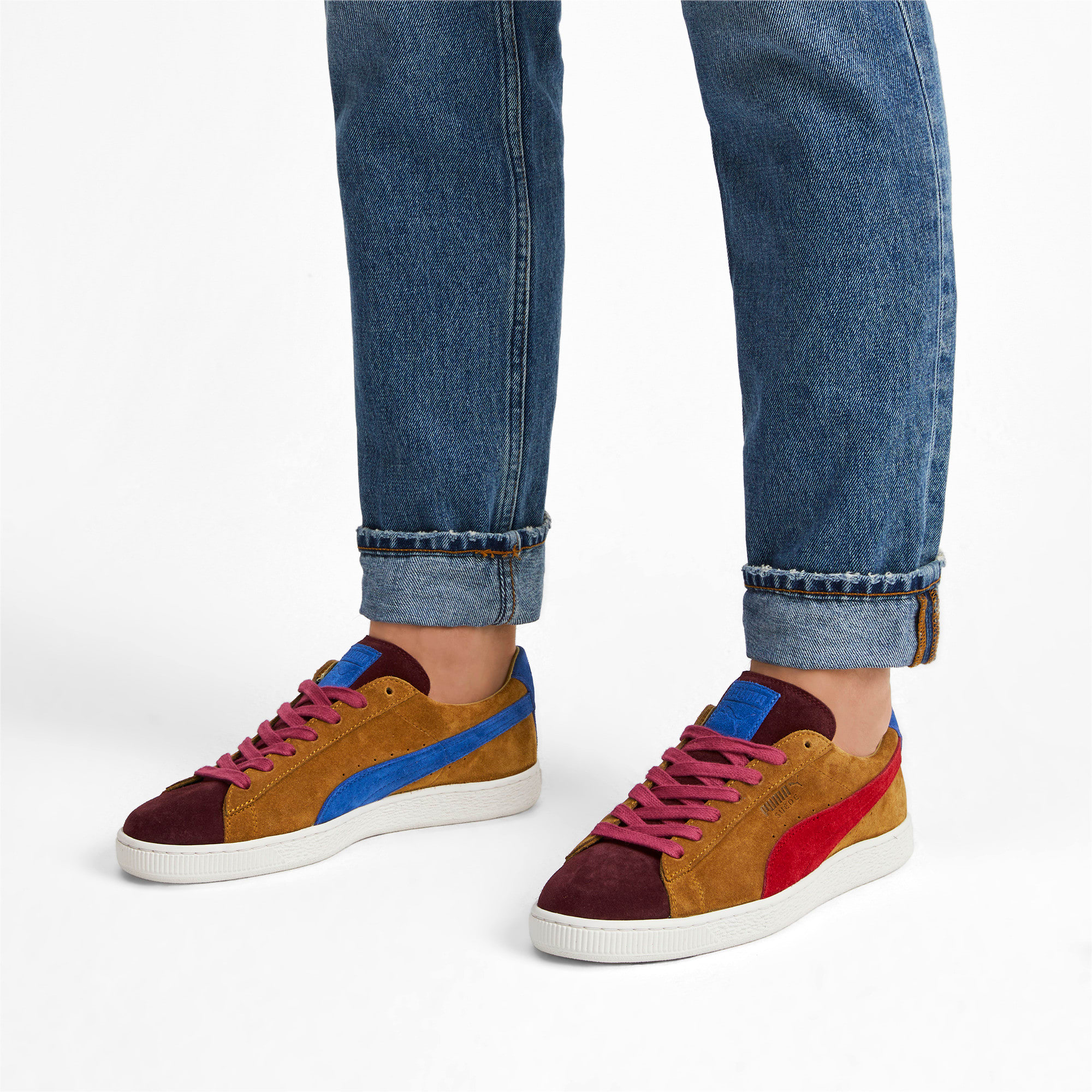 Thumbnail 2 of Suede MIE Sneakers, B. Brown-T. Red-H. R. Red, medium