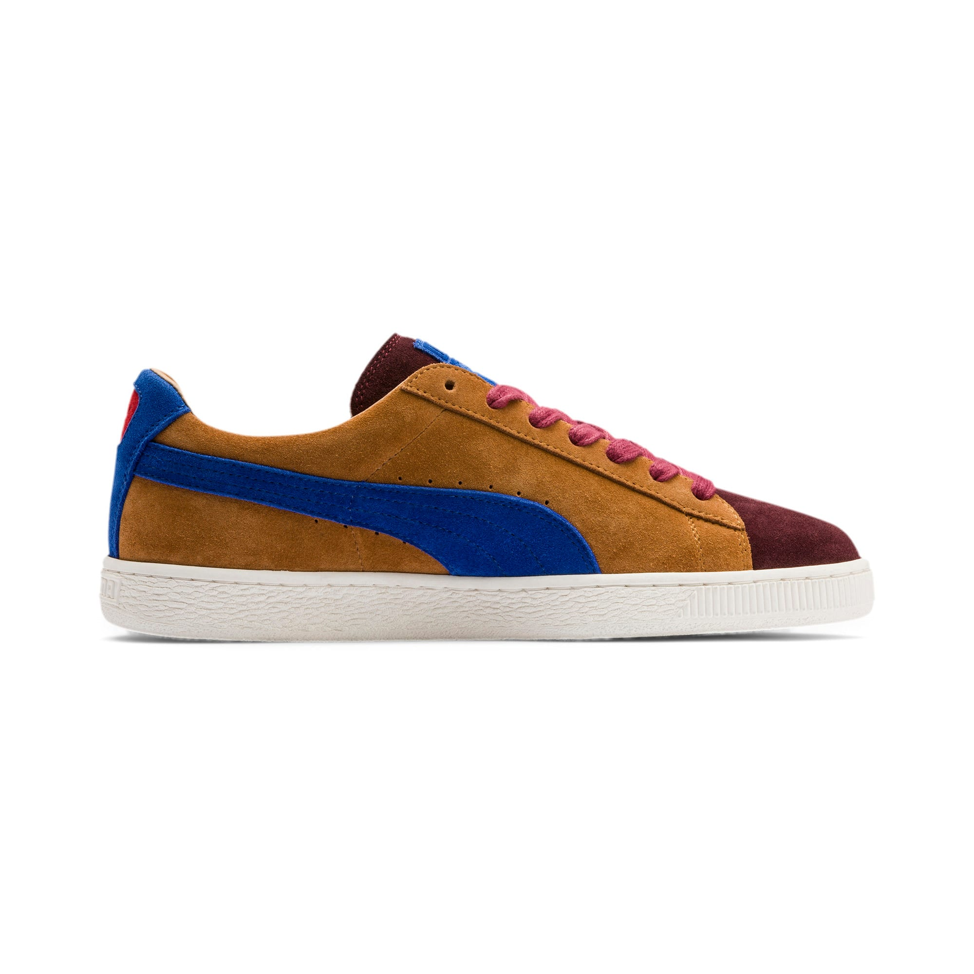 Thumbnail 6 of Suede MIE Sneakers, B. Brown-T. Red-H. R. Red, medium