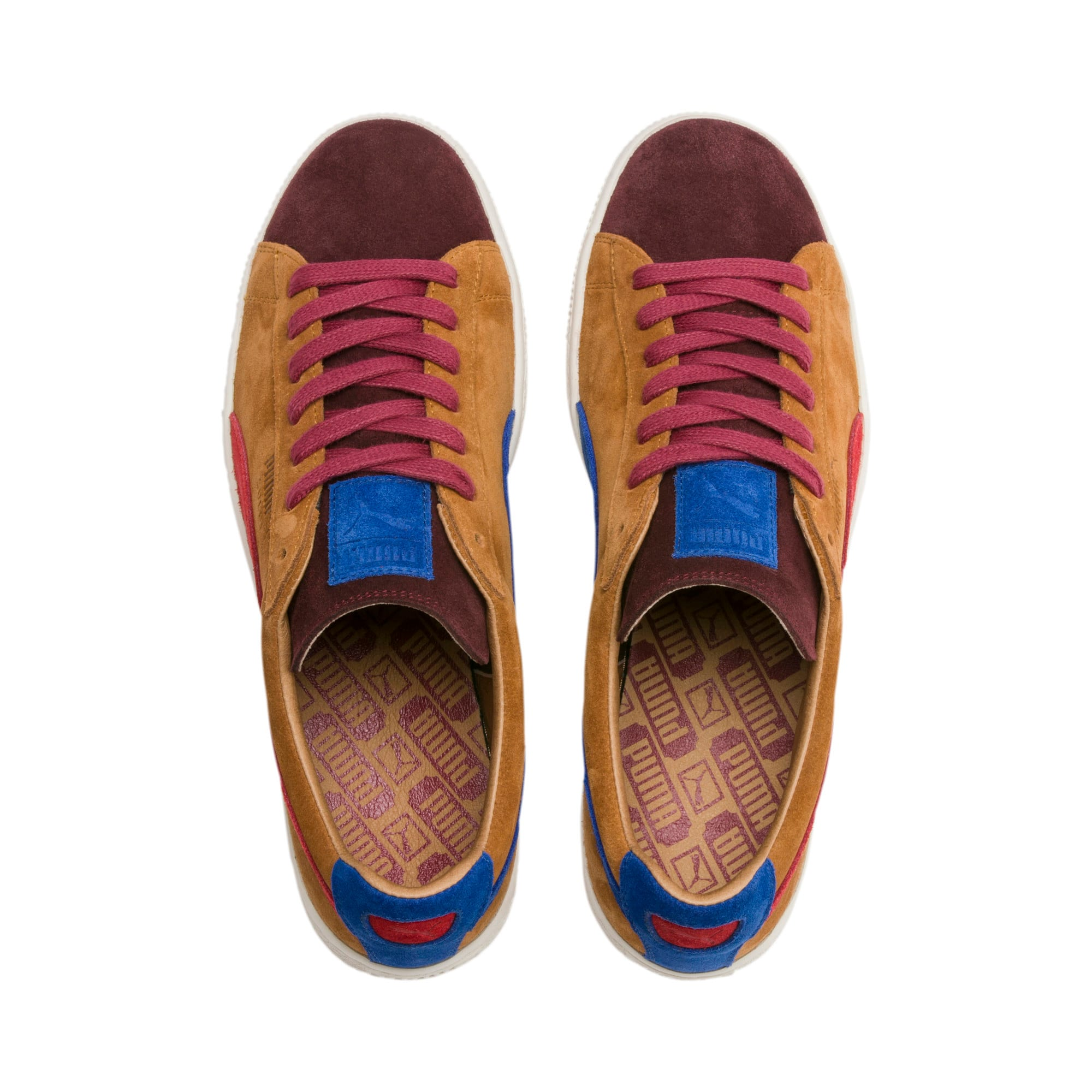 Thumbnail 7 of Suede MIE Sneakers, B. Brown-T. Red-H. R. Red, medium