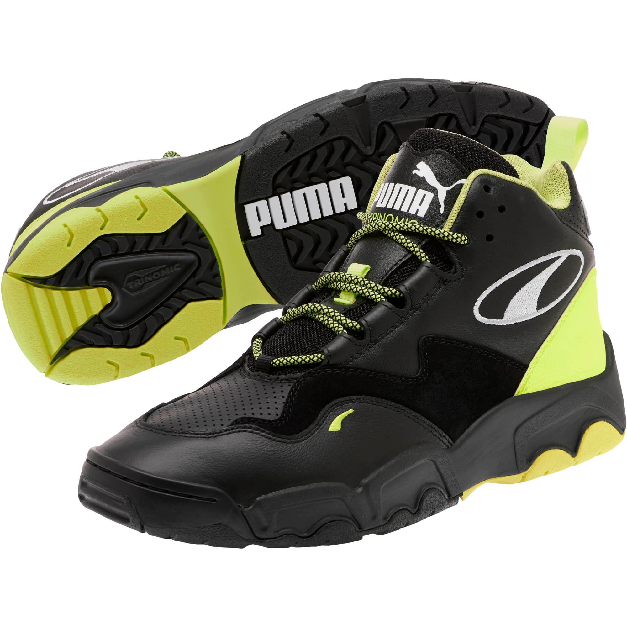 Thumbnail 2 of Source Mid Retro 2 Sneakers, Black-Fizzy Yellow-Pu White, medium