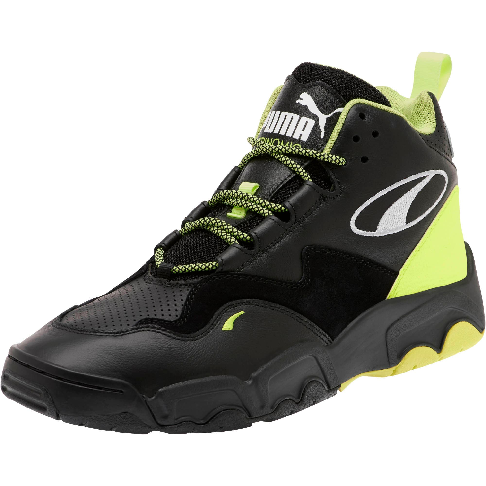 Thumbnail 1 of Source Mid Retro 2 Sneakers, Black-Fizzy Yellow-Pu White, medium