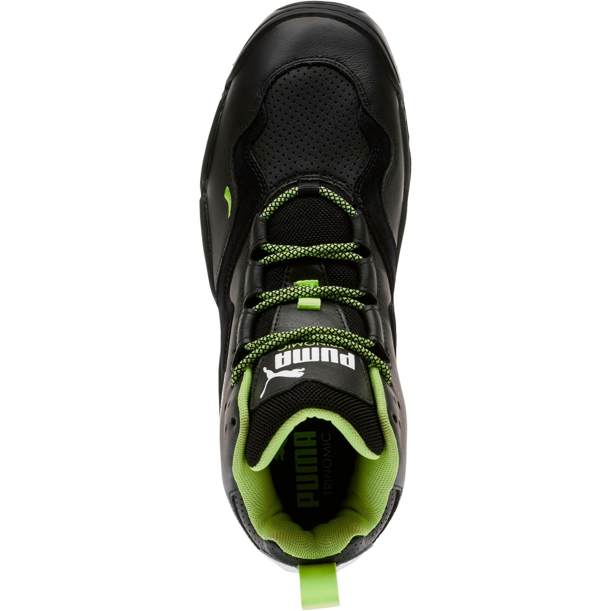 Thumbnail 5 of Source Mid Retro 2 Sneakers, Black-Fizzy Yellow-Pu White, medium