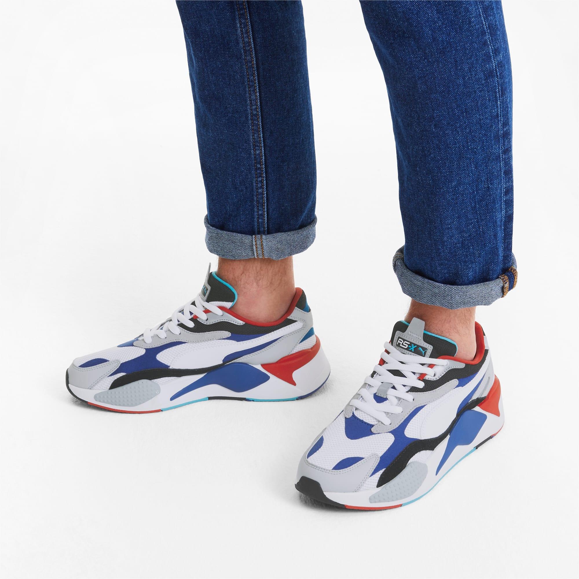 RS X³ Puzzle Sneaker | PWhite Dazzling Blue Hi Rise | PUMA