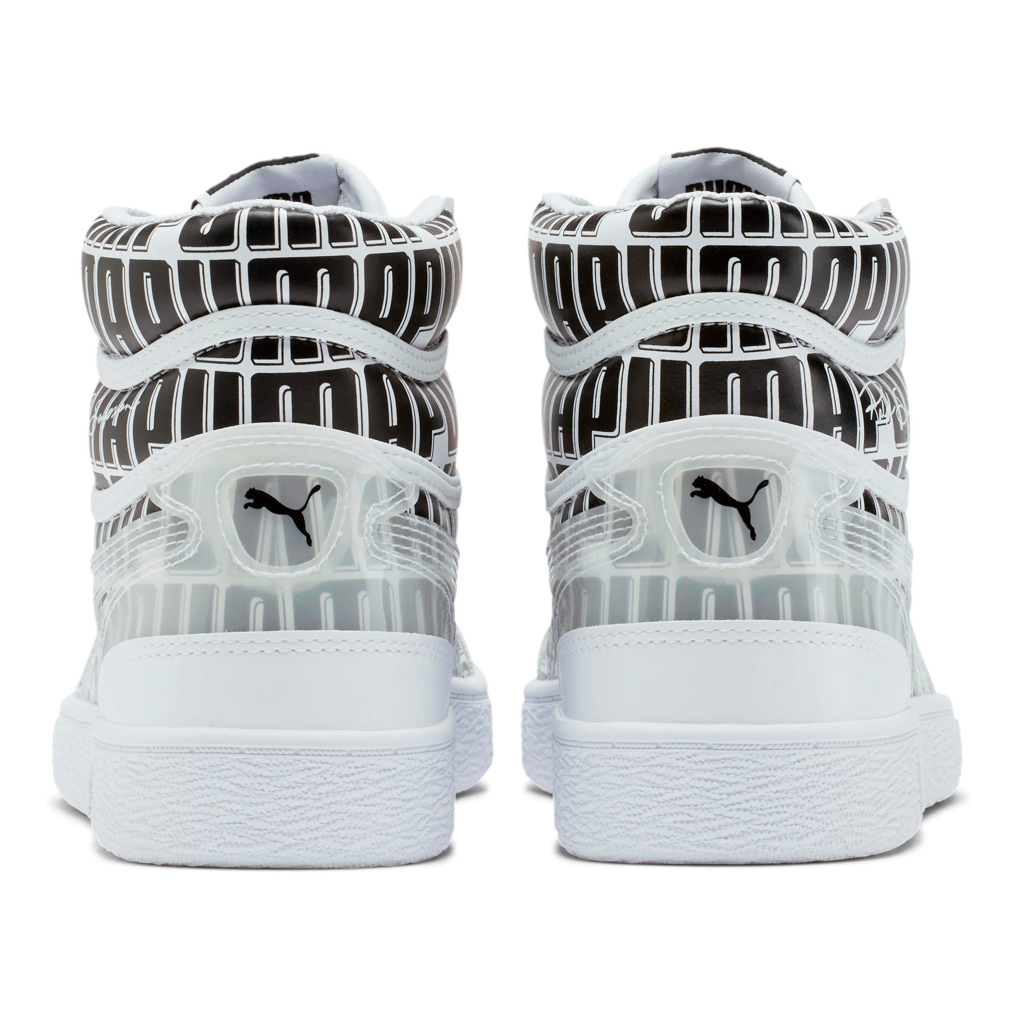 Thumbnail 3 of Ralph Sampson Mid Logo Women's Sneakers, Puma White-Puma Black, medium