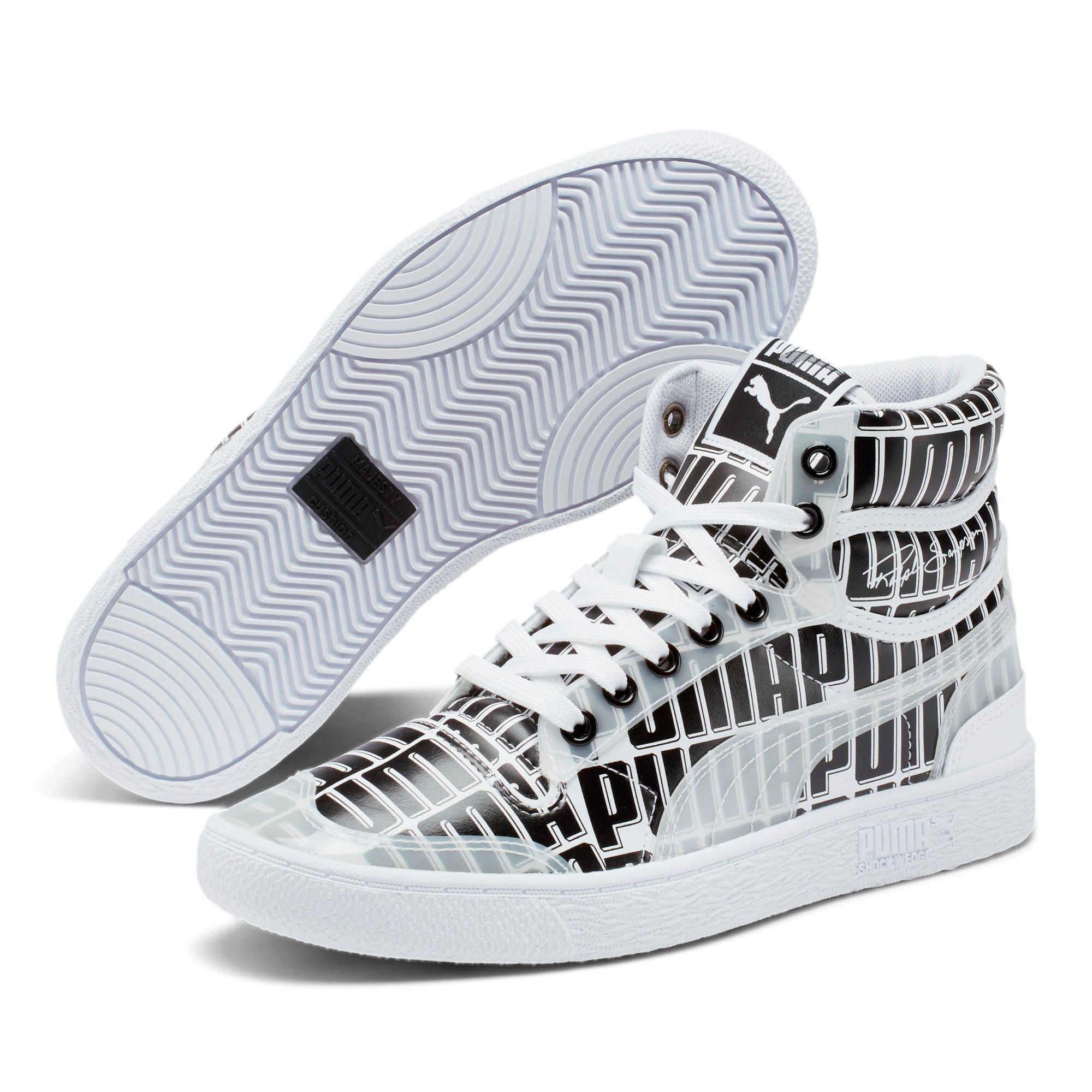 Thumbnail 2 of Ralph Sampson Mid Logo Women's Sneakers, Puma White-Puma Black, medium