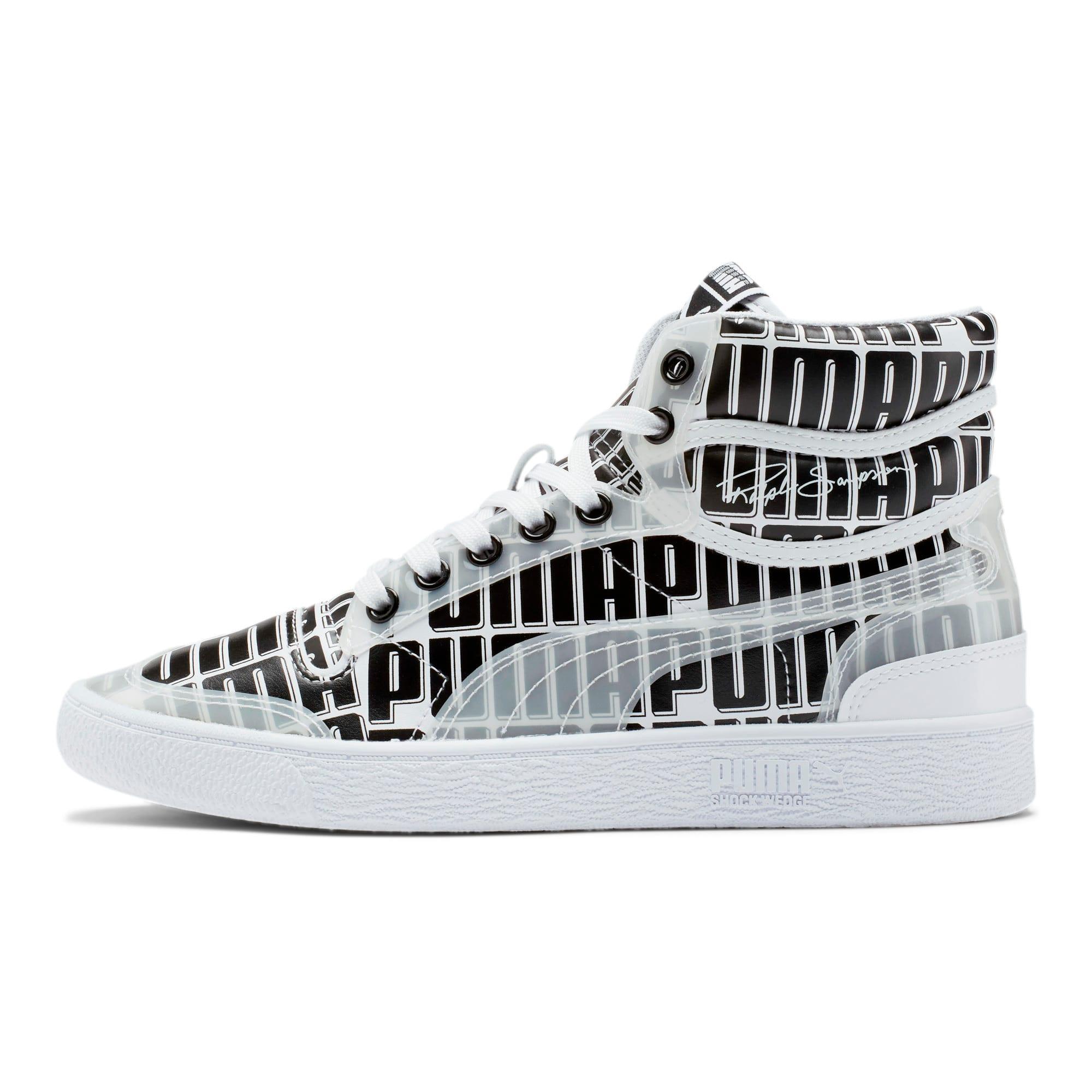 Thumbnail 1 of Ralph Sampson Mid Logo Women's Sneakers, Puma White-Puma Black, medium
