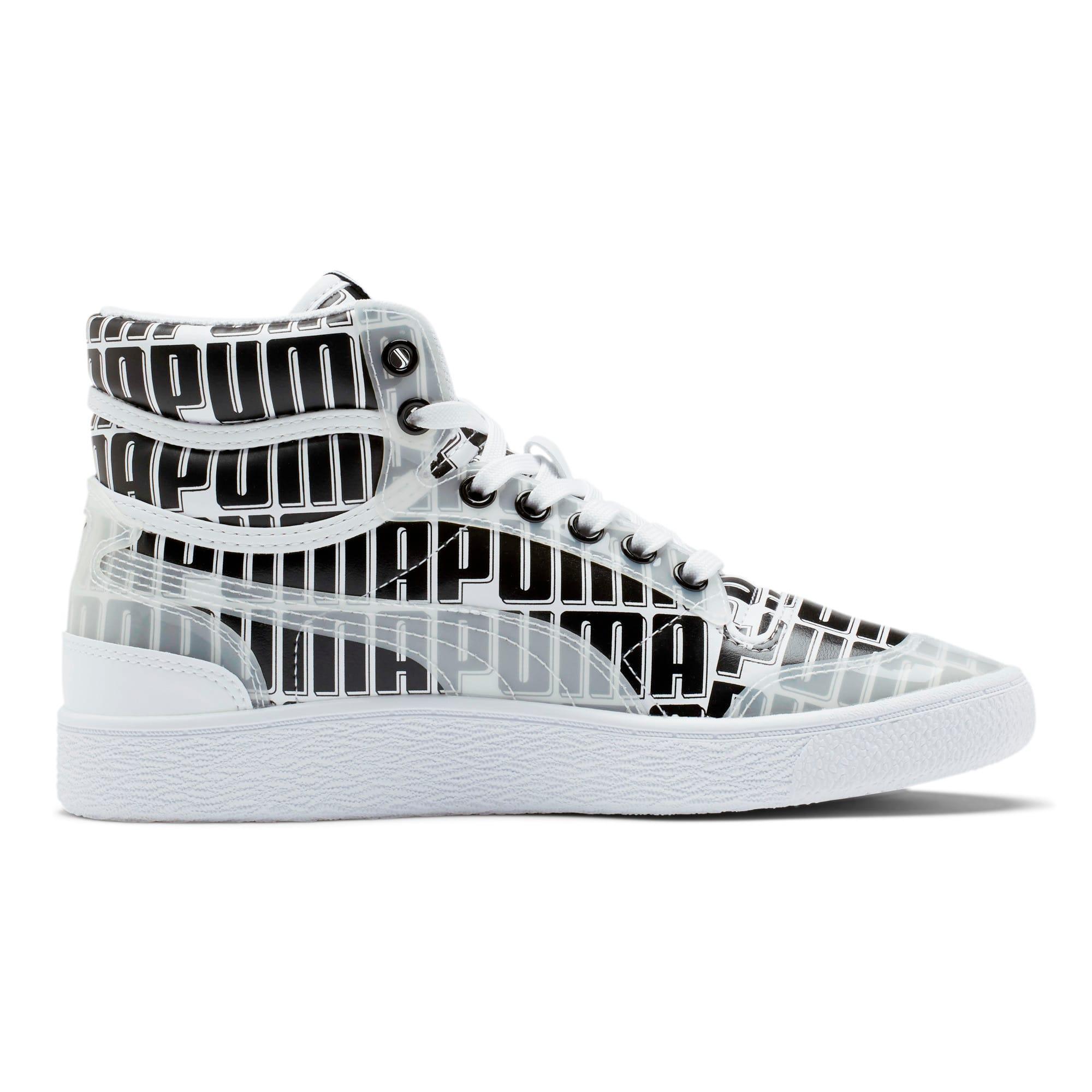Thumbnail 5 of Ralph Sampson Mid Logo Women's Sneakers, Puma White-Puma Black, medium