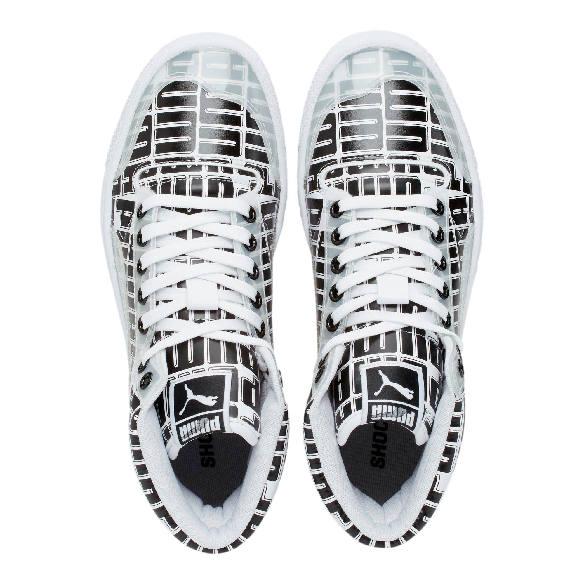 Thumbnail 6 of Ralph Sampson Mid Logo Women's Sneakers, Puma White-Puma Black, medium