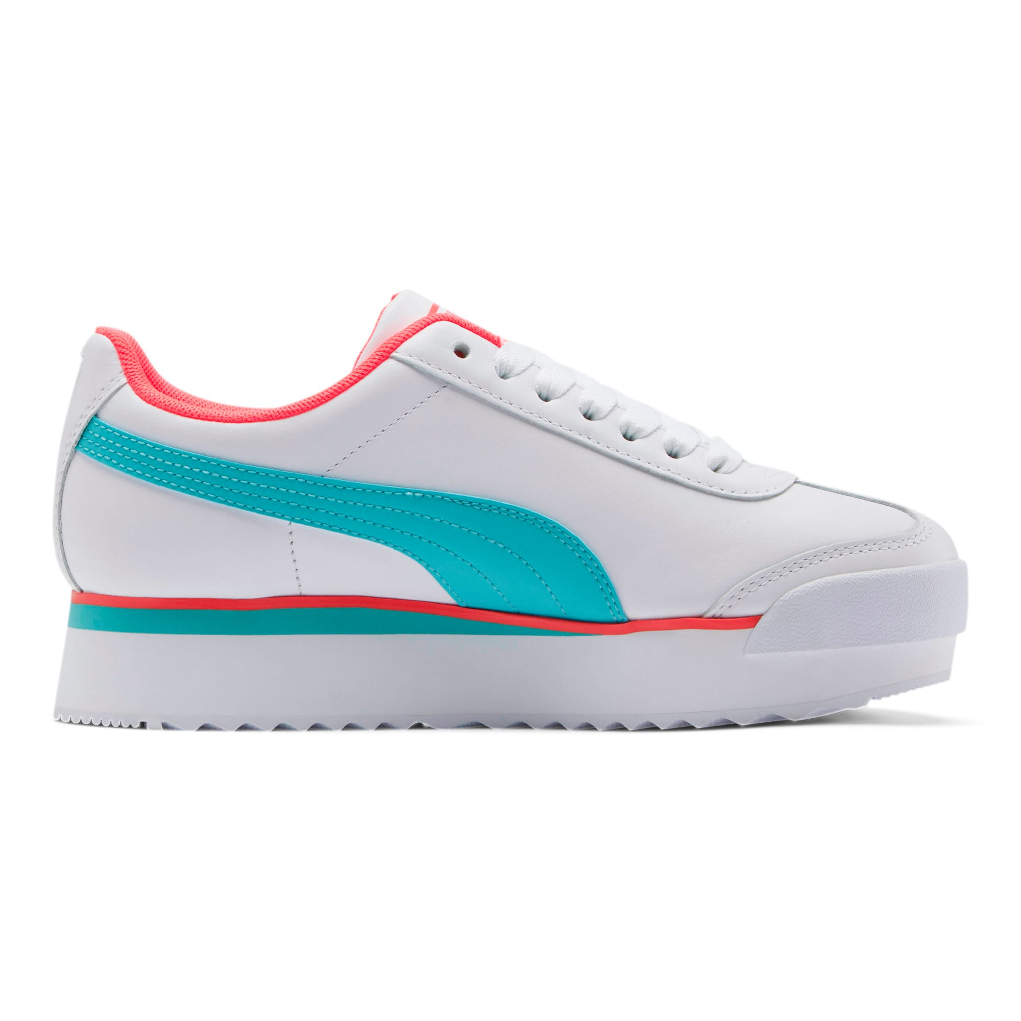 Thumbnail 5 of Roma Amor Heart Women's Sneakers, White-Milky Blue-Pink Alert, medium