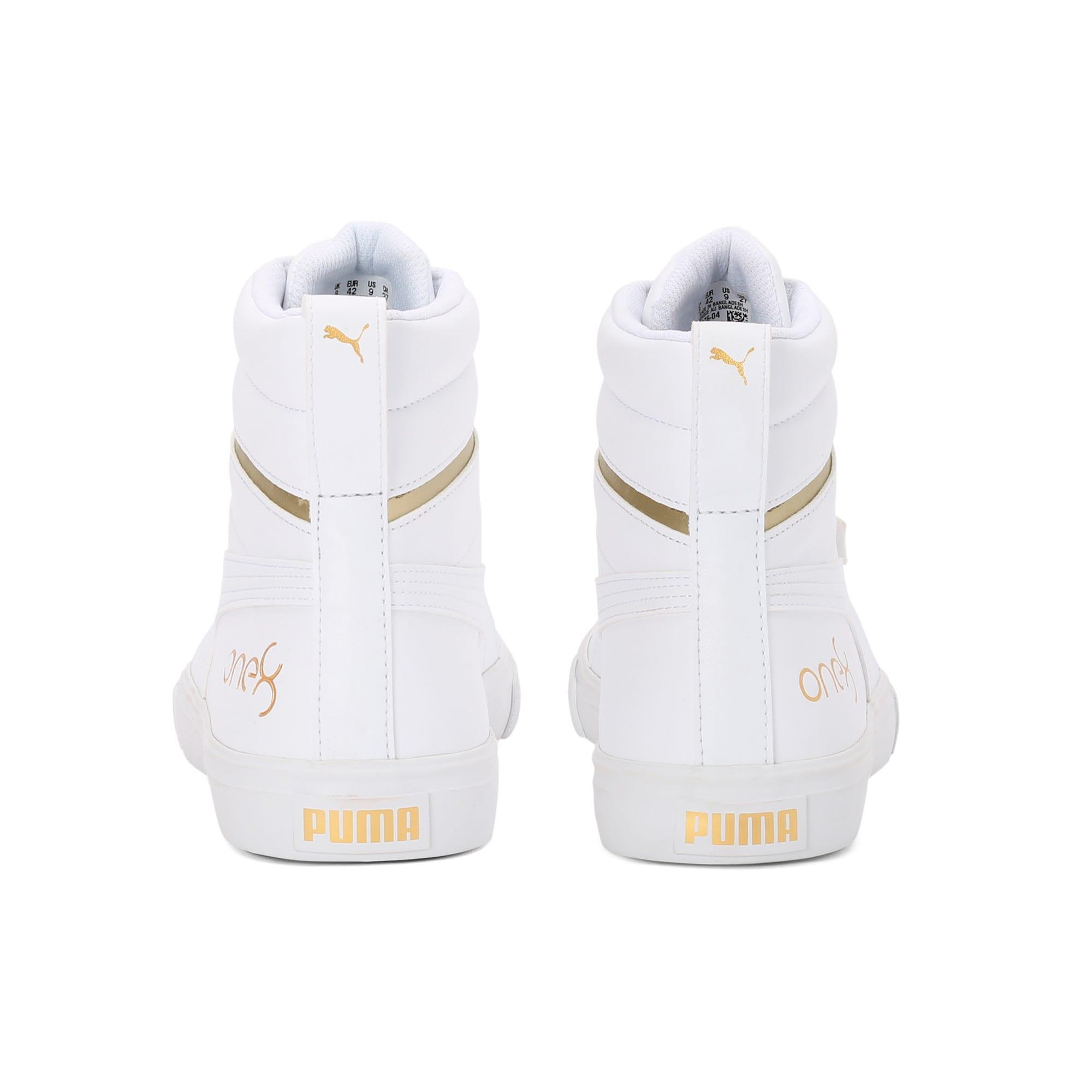 Thumbnail 3 of one8 Mid Men's Sneakers, Puma White-Puma Team Gold, medium-IND