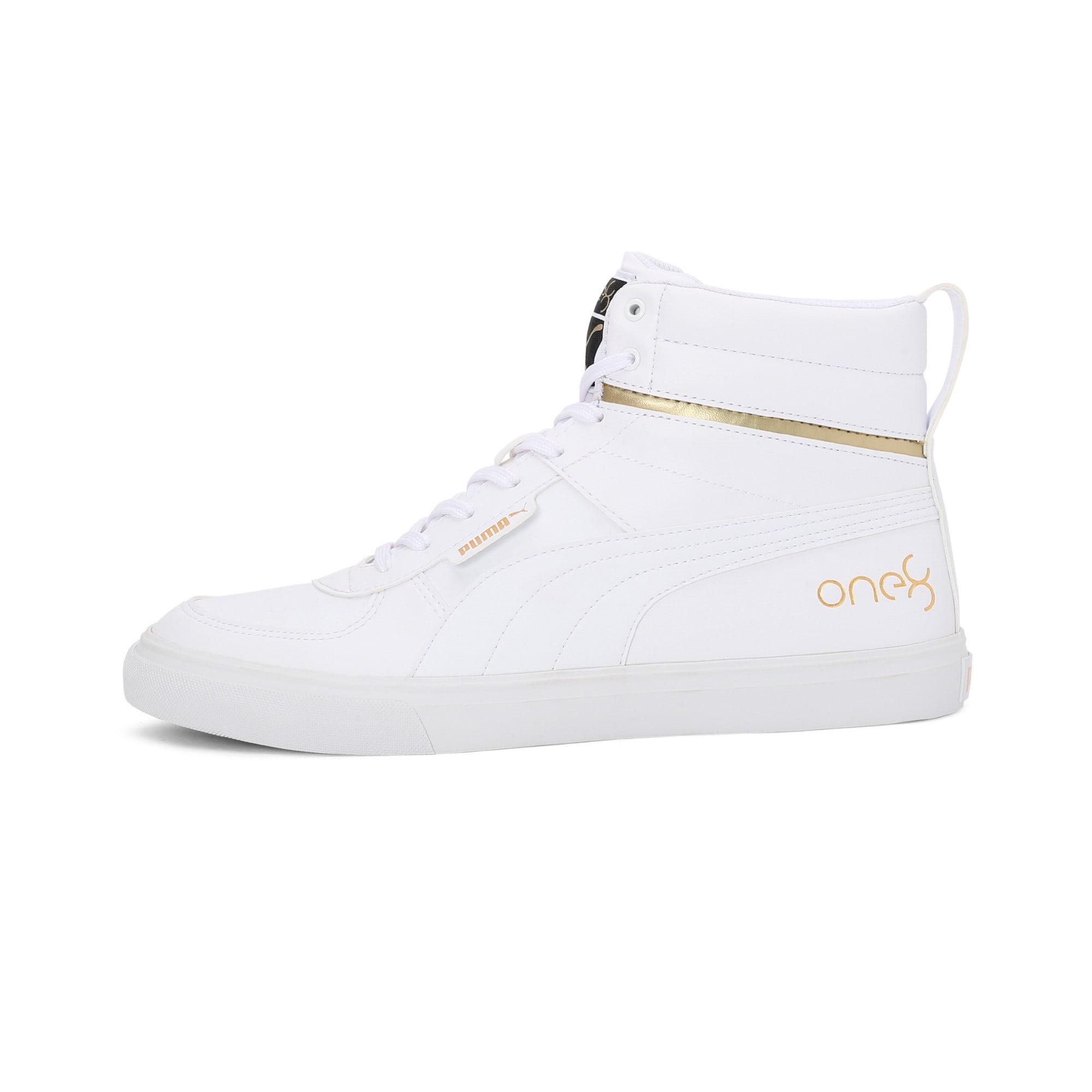 Thumbnail 1 of one8 Mid Men's Sneakers, Puma White-Puma Team Gold, medium-IND