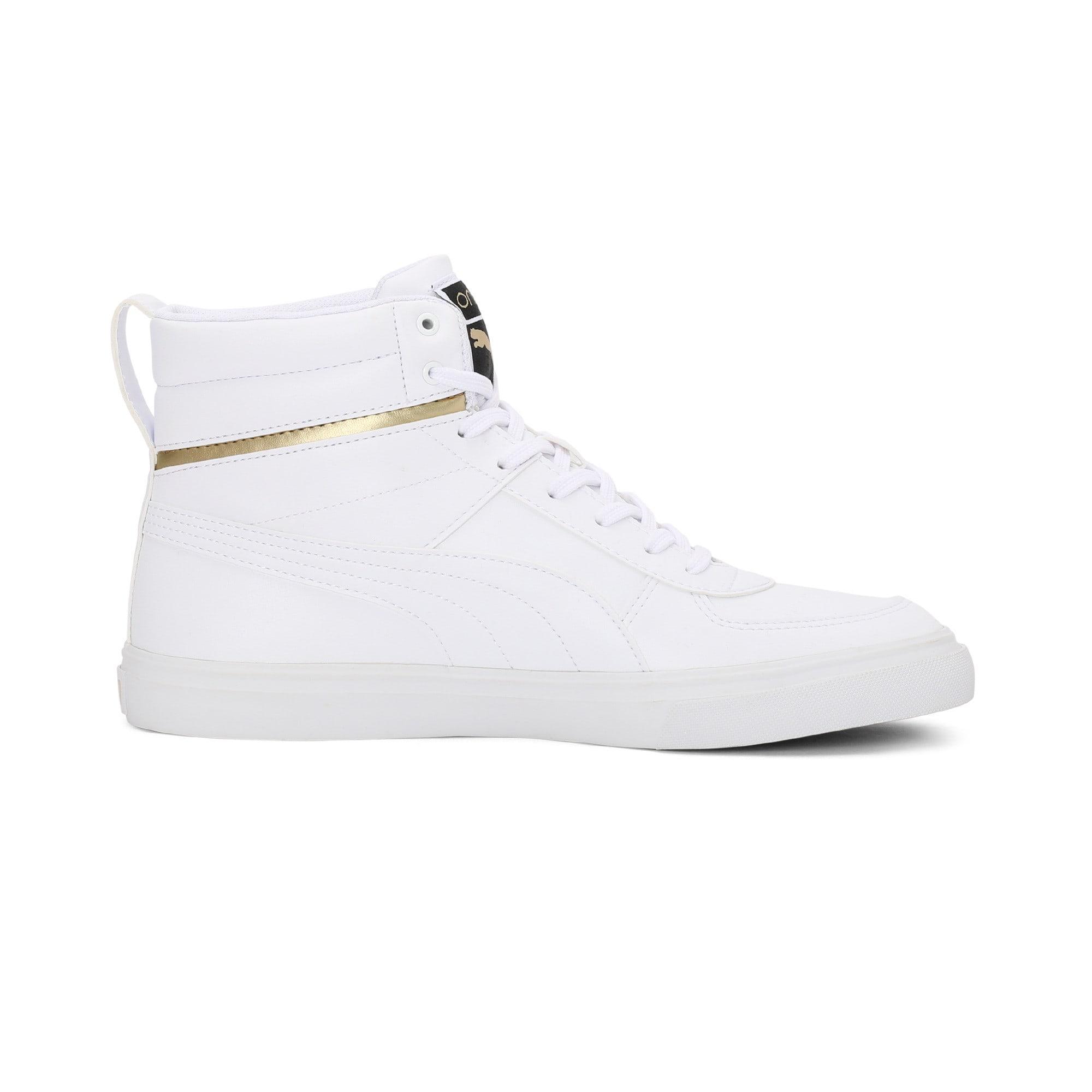 Thumbnail 5 of one8 Mid Men's Sneakers, Puma White-Puma Team Gold, medium-IND