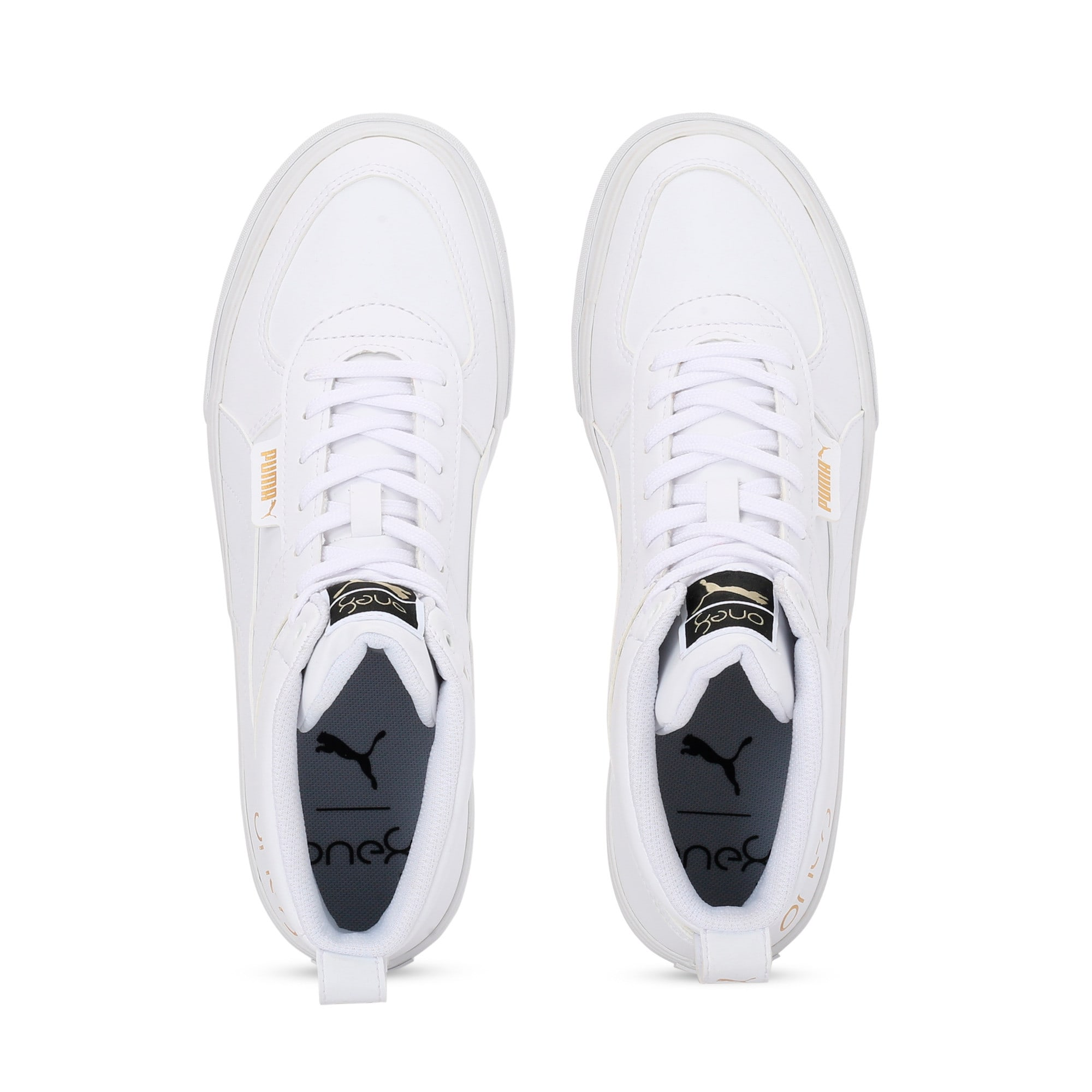 Thumbnail 6 of one8 Mid Men's Sneakers, Puma White-Puma Team Gold, medium-IND
