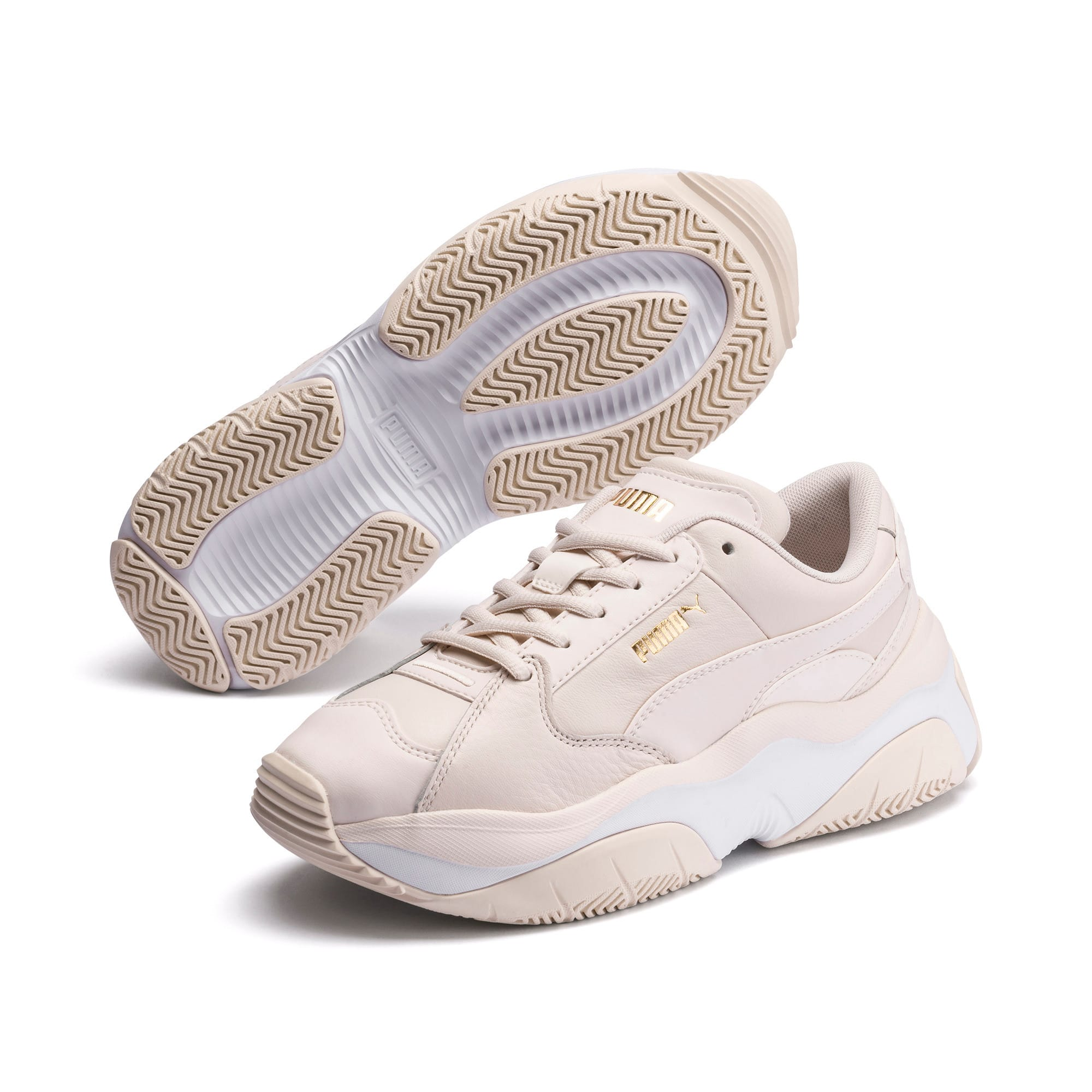 Thumbnail 2 of STORM.Y Leather Women's Trainers, Pastel Parchment, medium