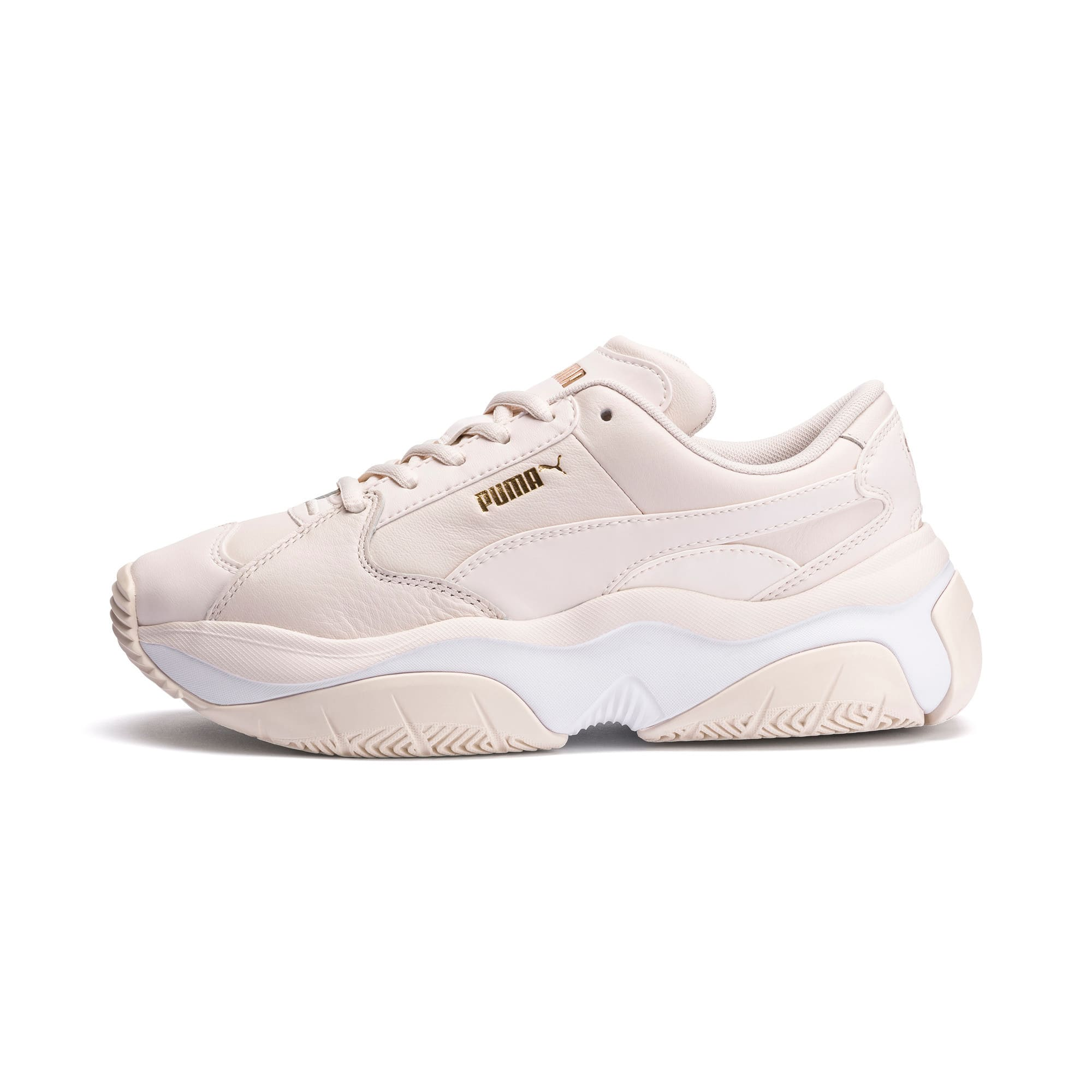 Thumbnail 1 of STORM.Y Leather Women's Trainers, Pastel Parchment, medium