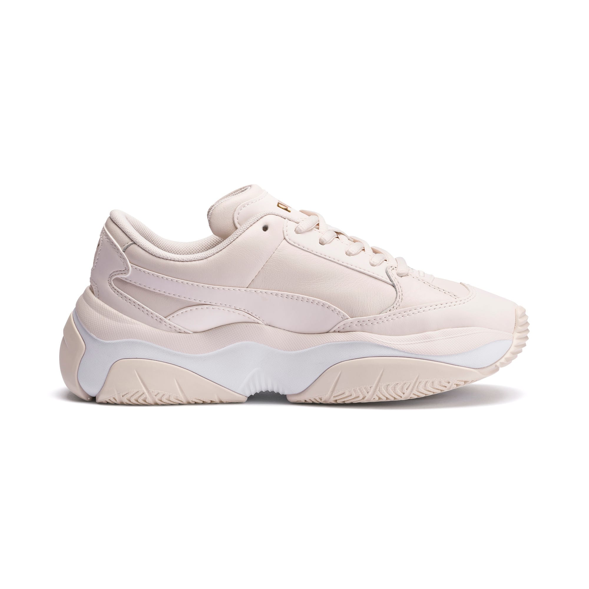 Thumbnail 5 of STORM.Y Leather Women's Trainers, Pastel Parchment, medium