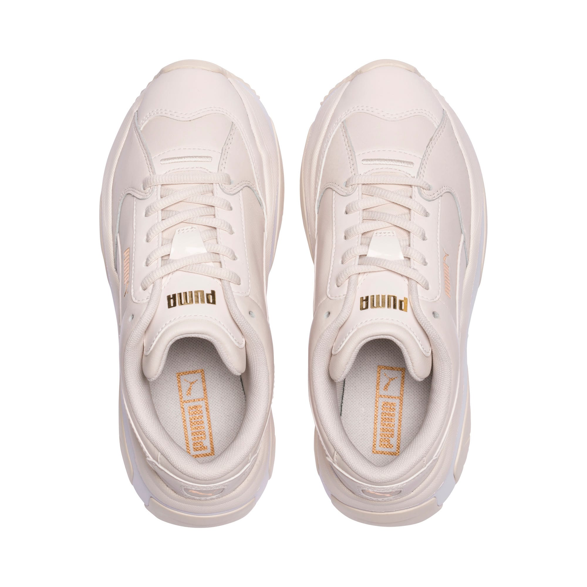 Thumbnail 6 of STORM.Y Leather Women's Trainers, Pastel Parchment, medium