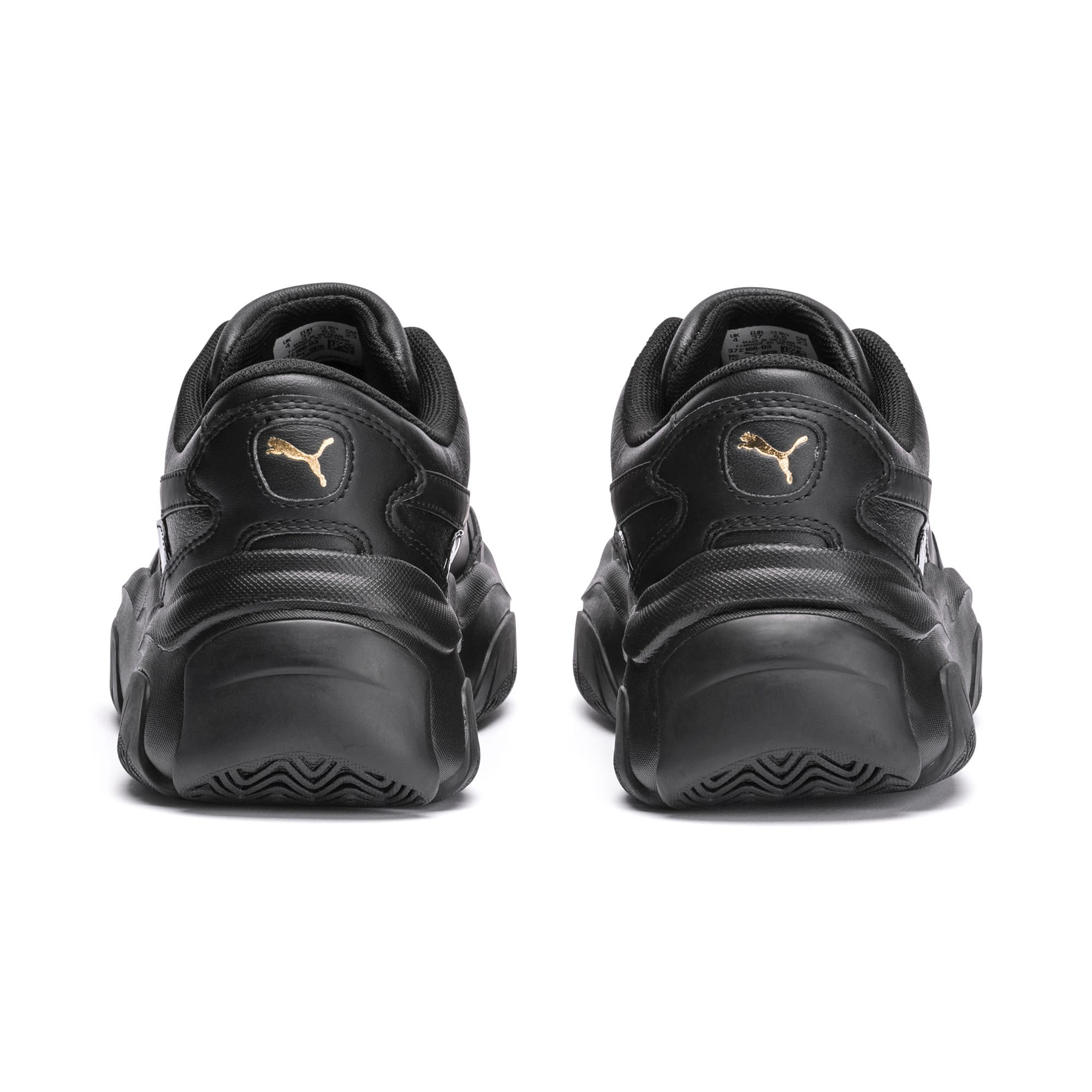 Thumbnail 3 of STORM.Y Leather Women's Trainers, Puma Black, medium
