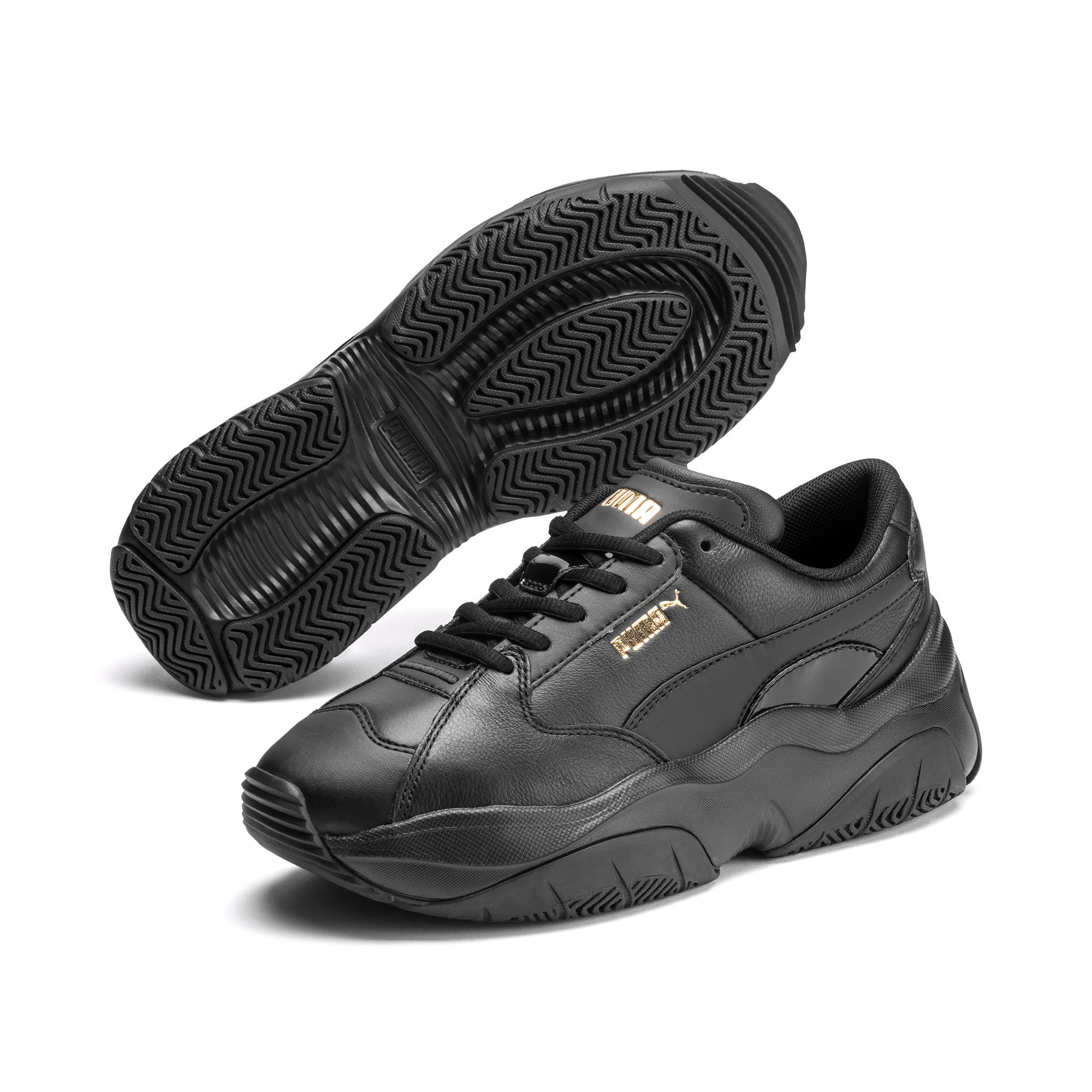 Thumbnail 2 of STORM.Y Leather Women's Trainers, Puma Black, medium