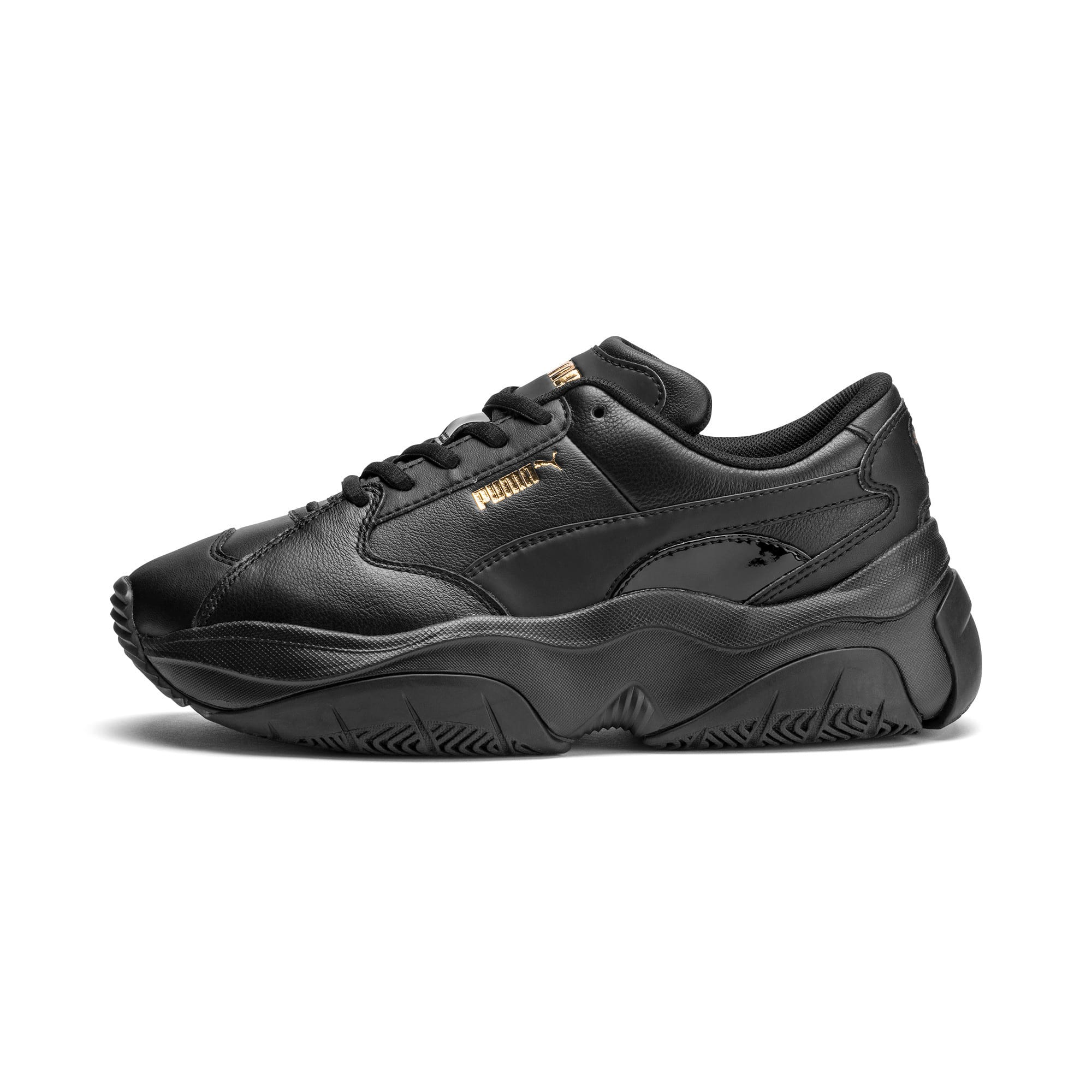 Thumbnail 1 of STORM.Y Leather Women's Trainers, Puma Black, medium
