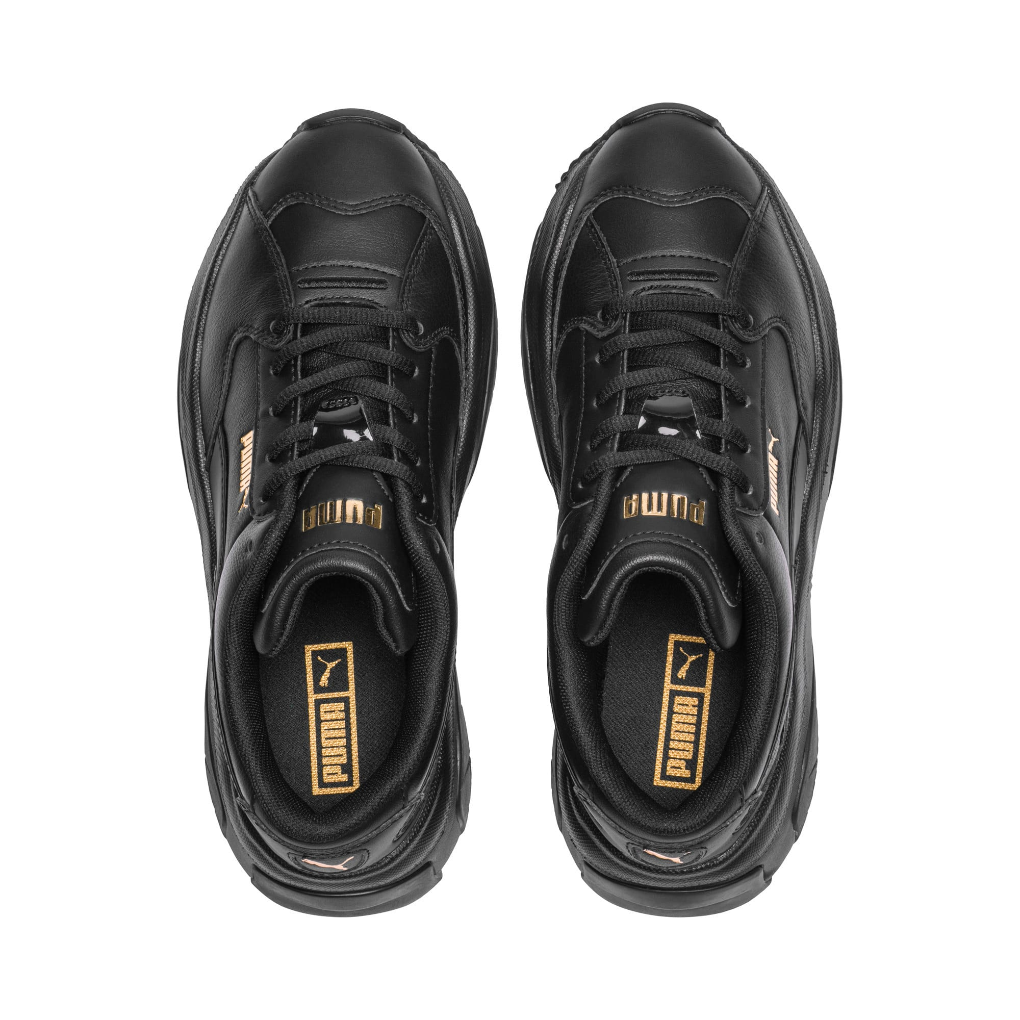 Thumbnail 6 of STORM.Y Leather Women's Trainers, Puma Black, medium