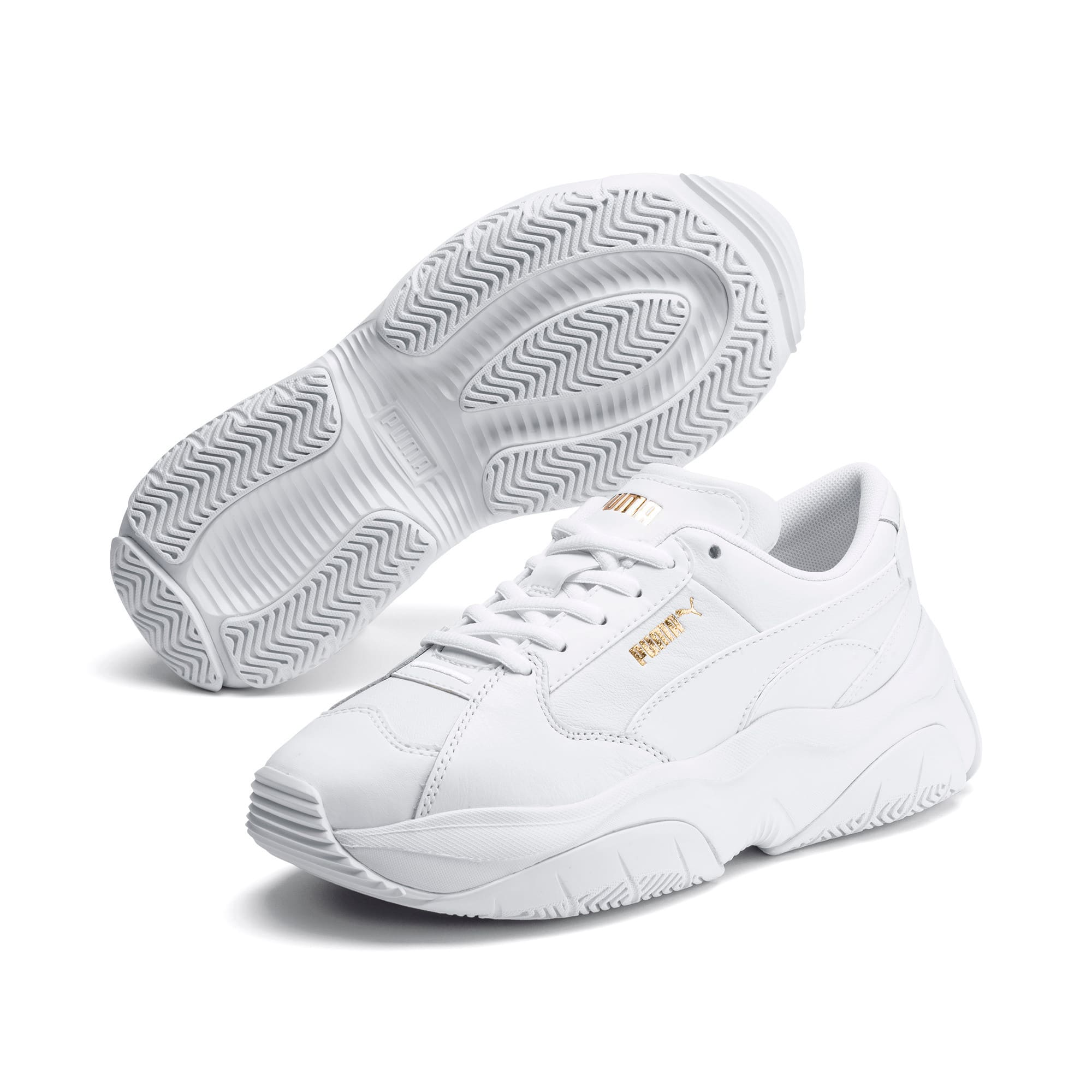 Thumbnail 2 of STORM.Y Leather Women's Trainers, Puma White, medium