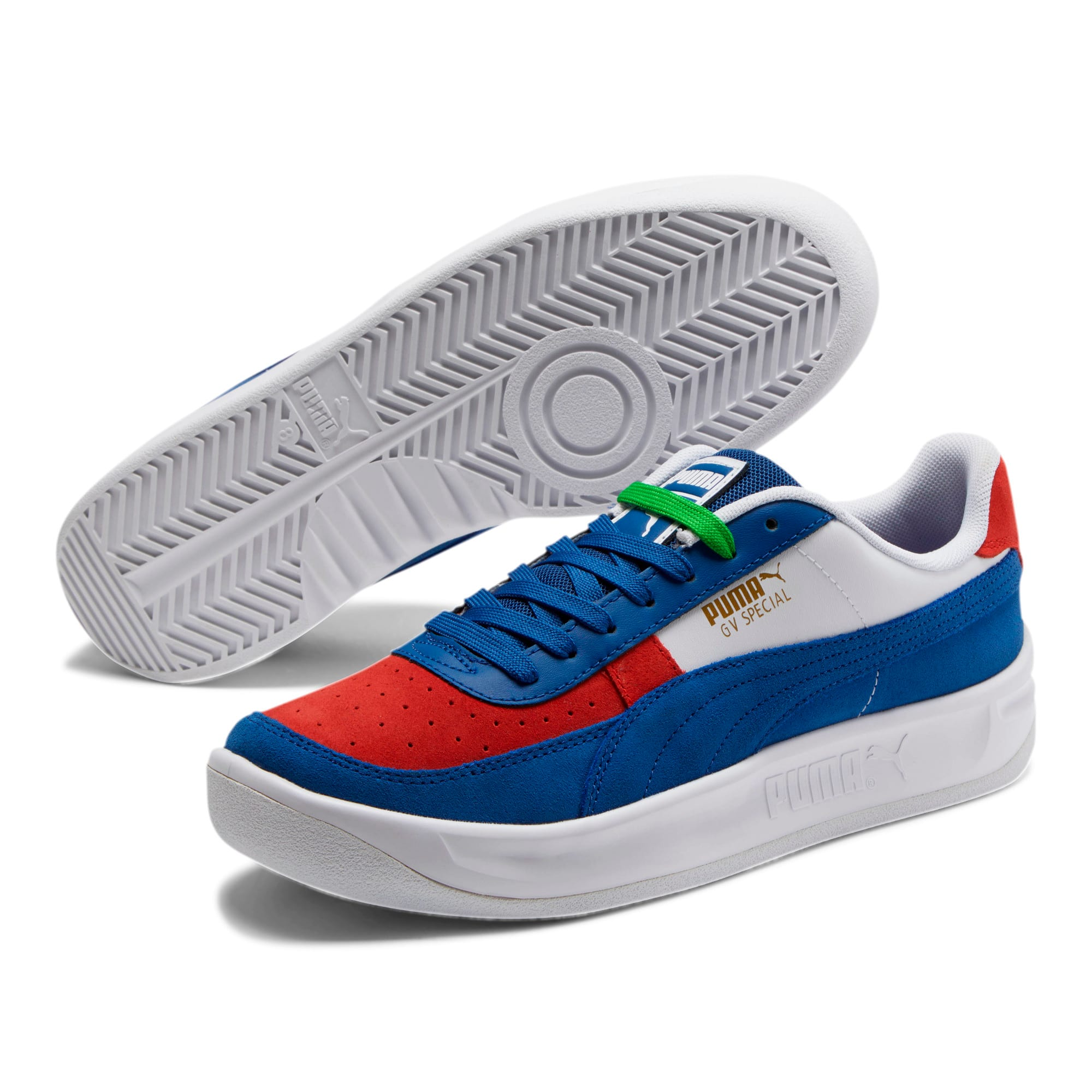 Thumbnail 2 of GV Special + Primary Sneakers, Gy Blue- White-High Risk Red, medium