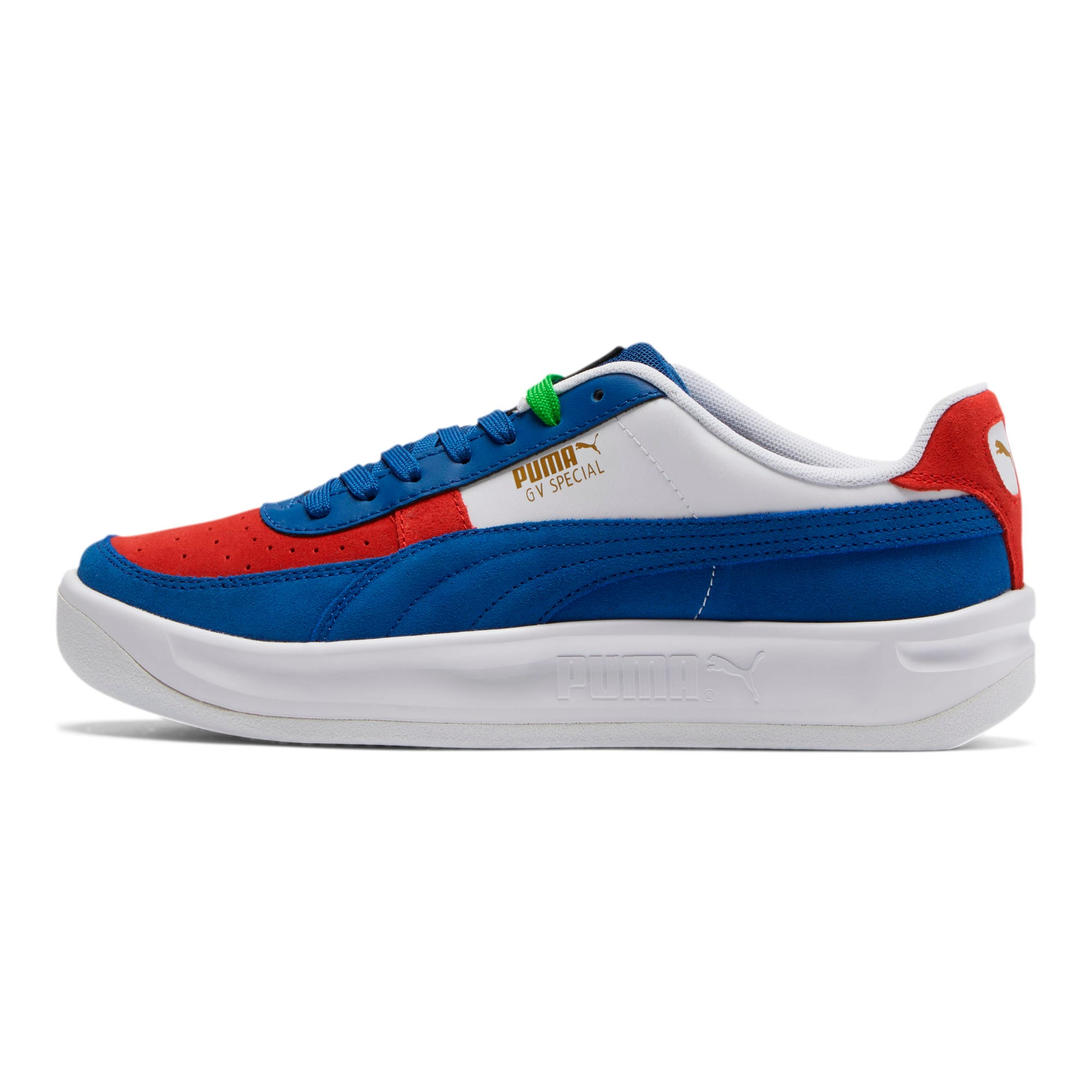 Thumbnail 1 of GV Special + Primary Sneakers, Gy Blue- White-High Risk Red, medium