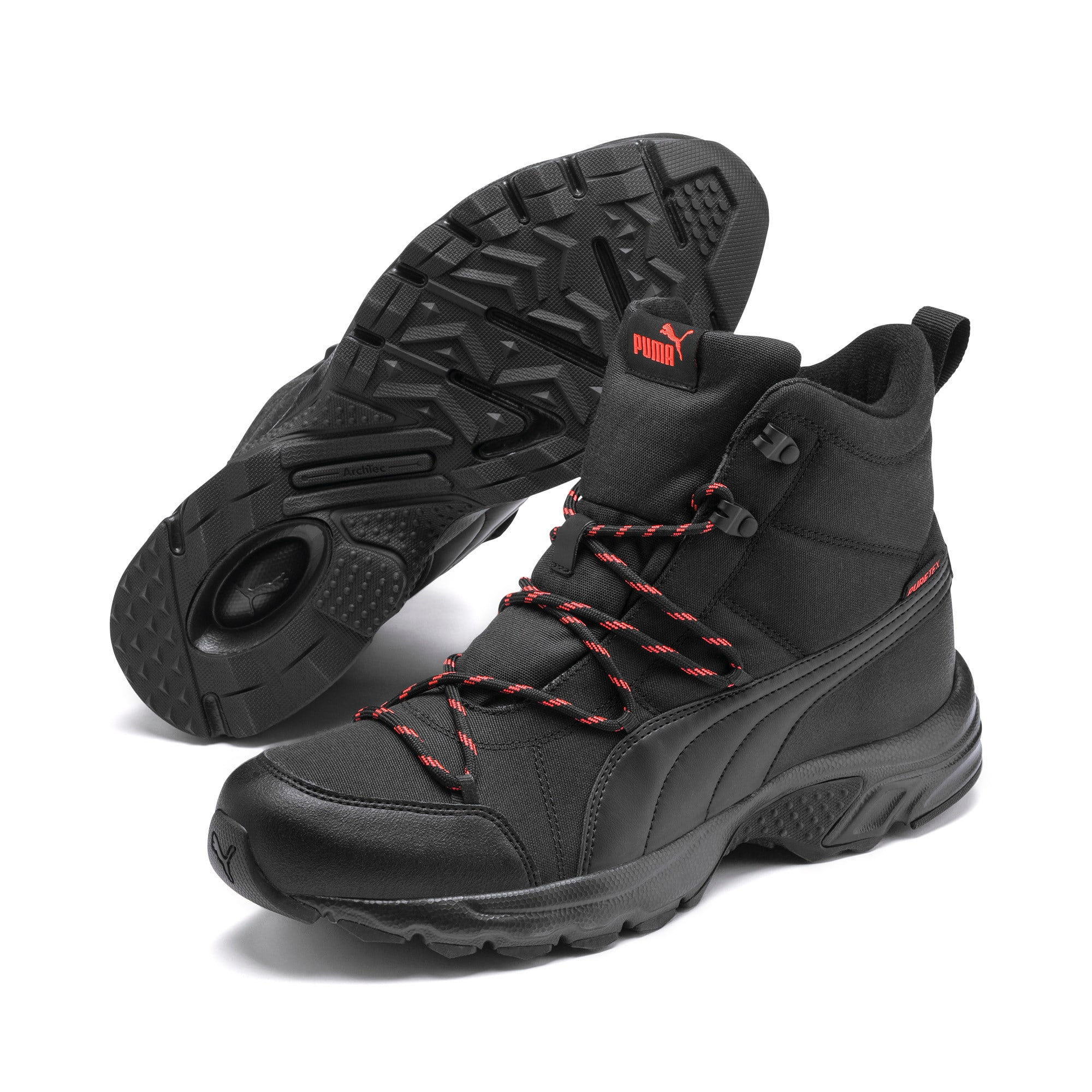 Thumbnail 7 of Axis Trail Winter Boots, Black-Nrgy Red-Whisper White, medium