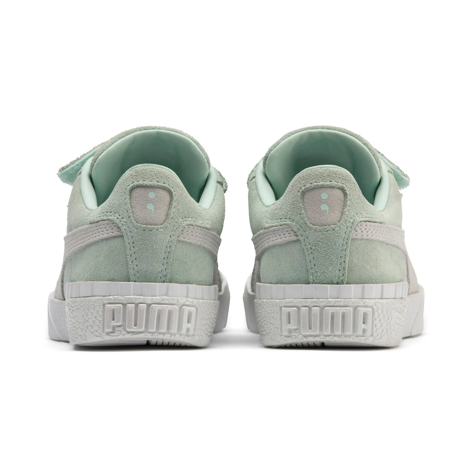 Thumbnail 3 of PUMA x Selena Gomez Kids' Cali Patent Trainers, Fair Aqua-Puma White, medium