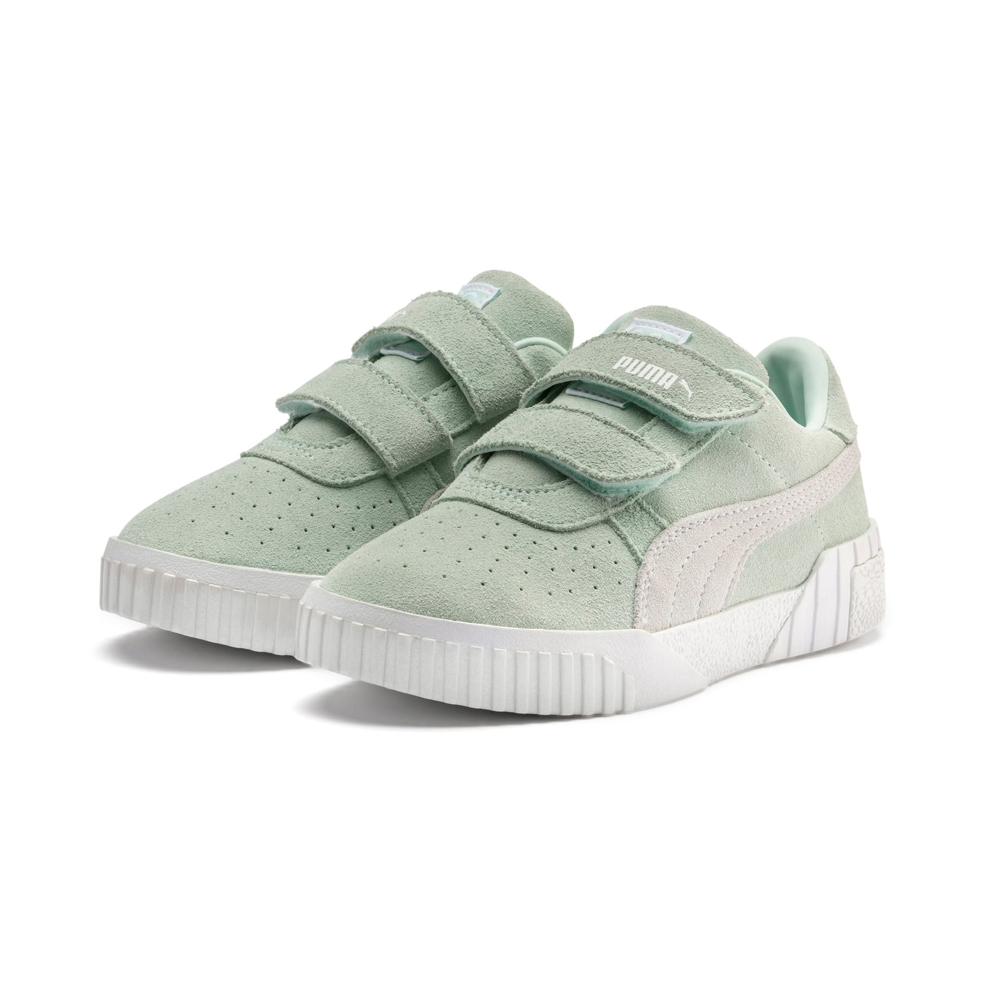 Thumbnail 2 of PUMA x Selena Gomez Kids' Cali Patent Trainers, Fair Aqua-Puma White, medium