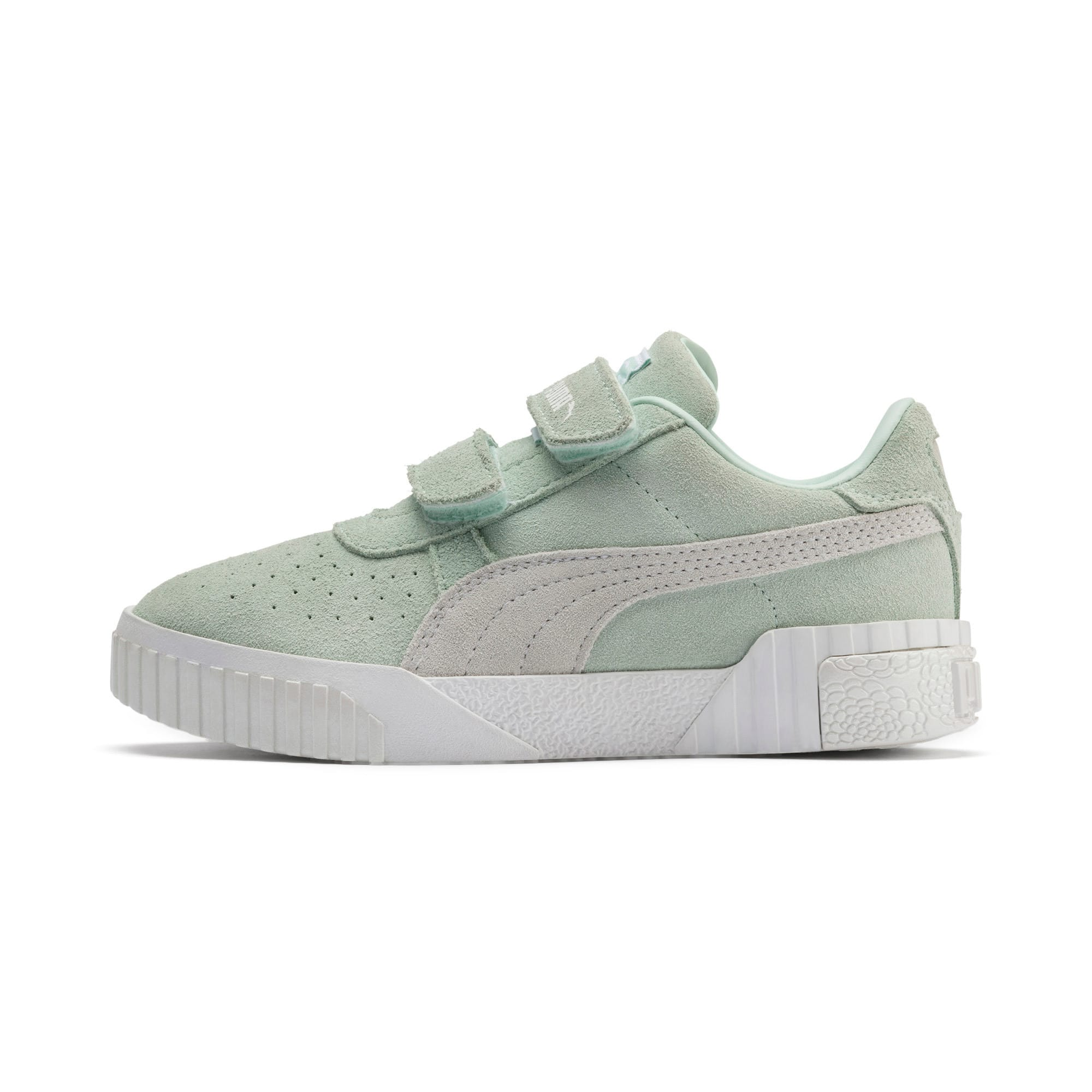Thumbnail 1 of PUMA x Selena Gomez Kids' Cali Patent Trainers, Fair Aqua-Puma White, medium