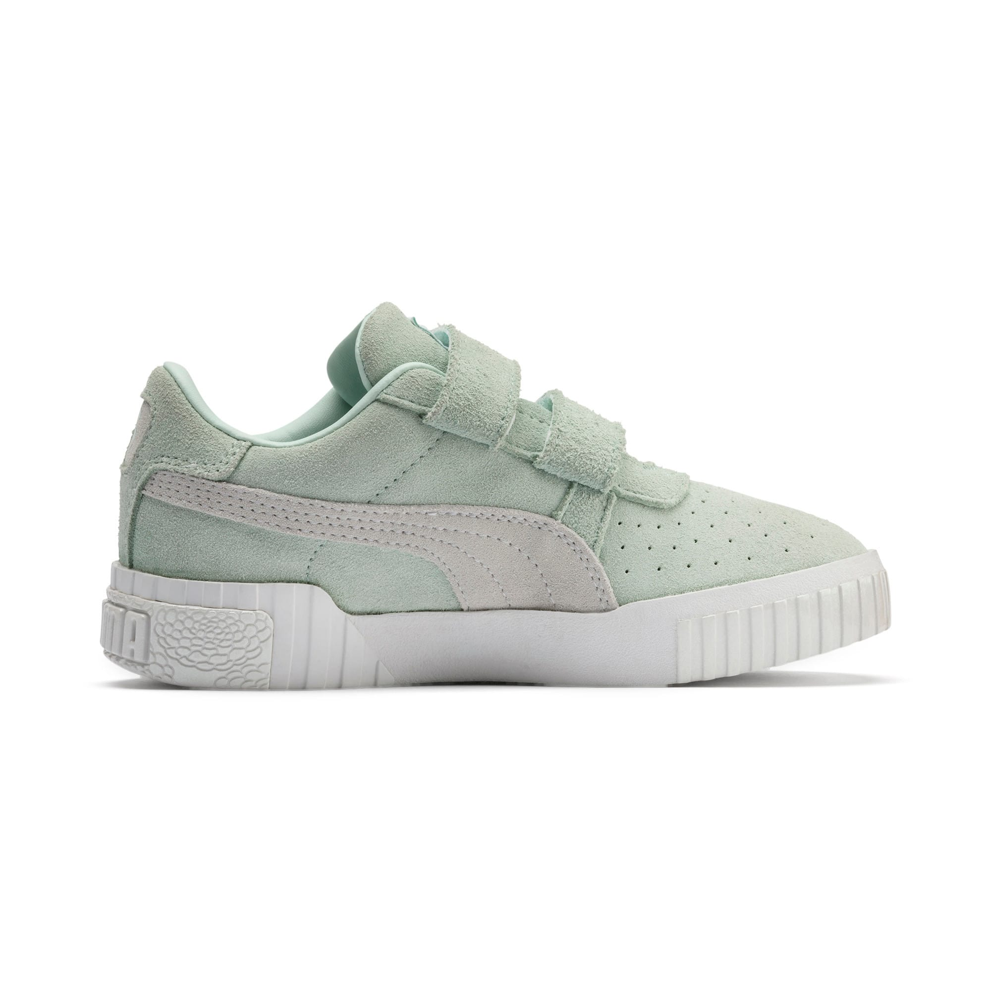 Thumbnail 5 of PUMA x Selena Gomez Kids' Cali Patent Trainers, Fair Aqua-Puma White, medium