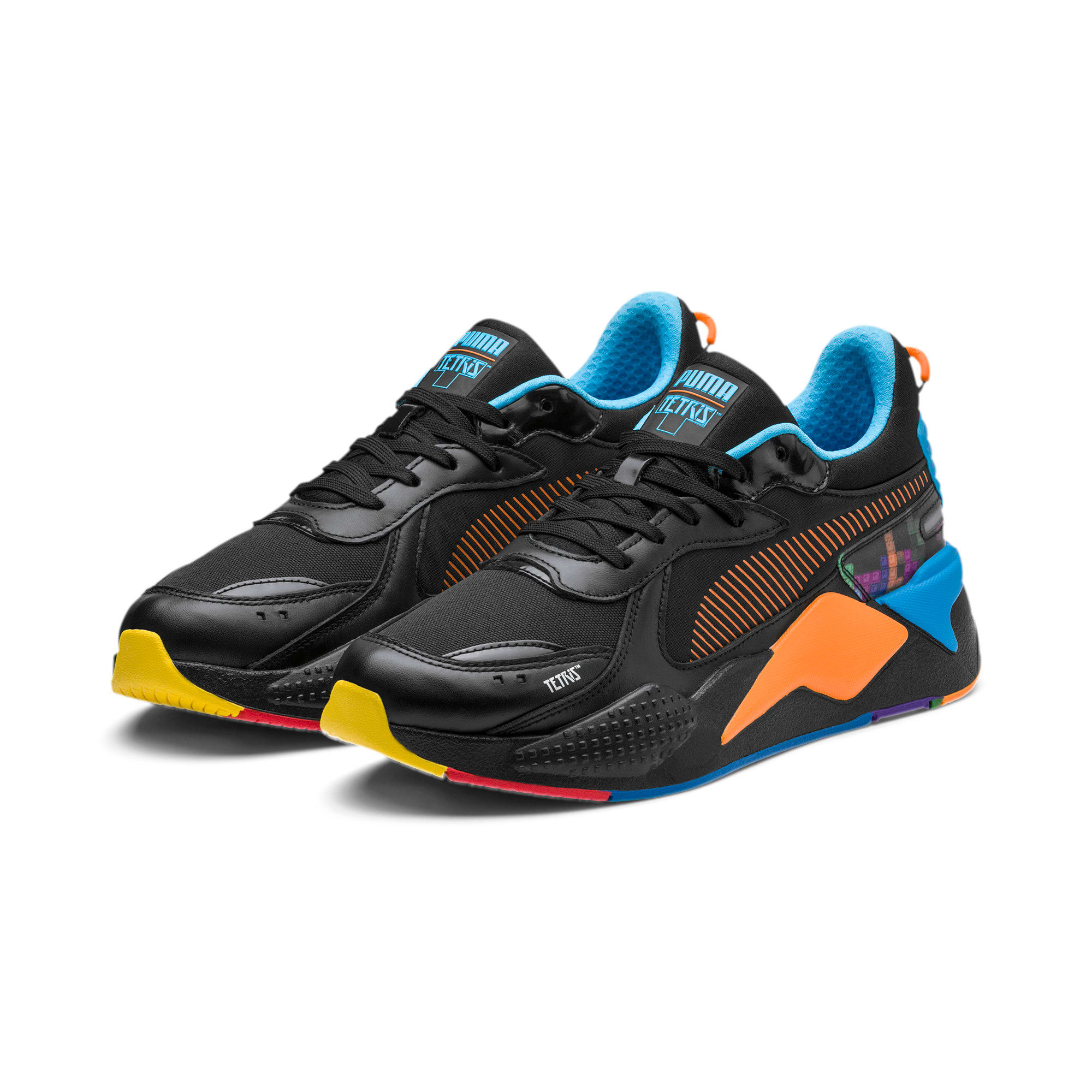 Thumbnail 2 of PUMA x TETRIS RS-X スニーカー, Puma Black-Luminous Blue, medium-JPN