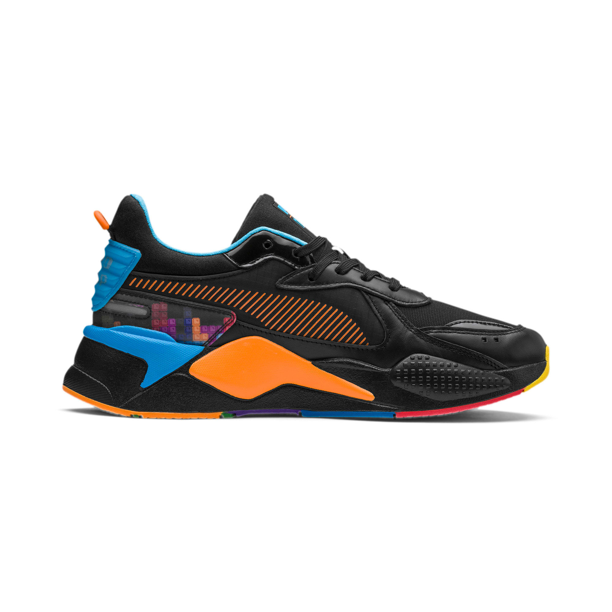 Thumbnail 5 of PUMA x TETRIS RS-X スニーカー, Puma Black-Luminous Blue, medium-JPN