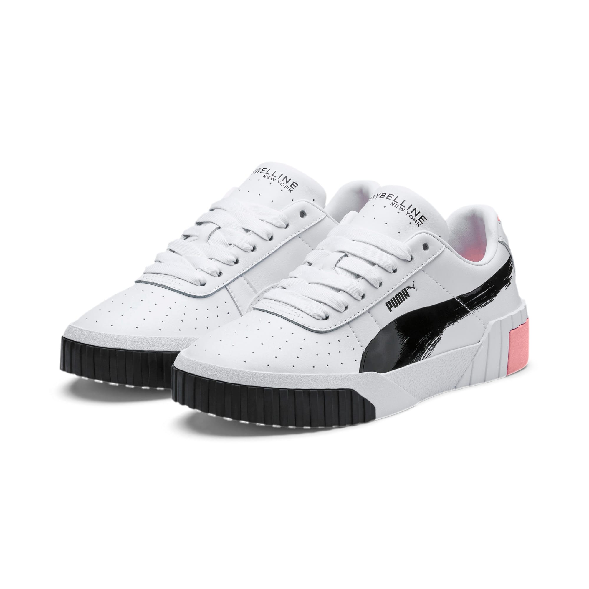 Thumbnail 2 of PUMA x MAYBELLINE Cali Women's Trainers, Puma White-Puma Black, medium