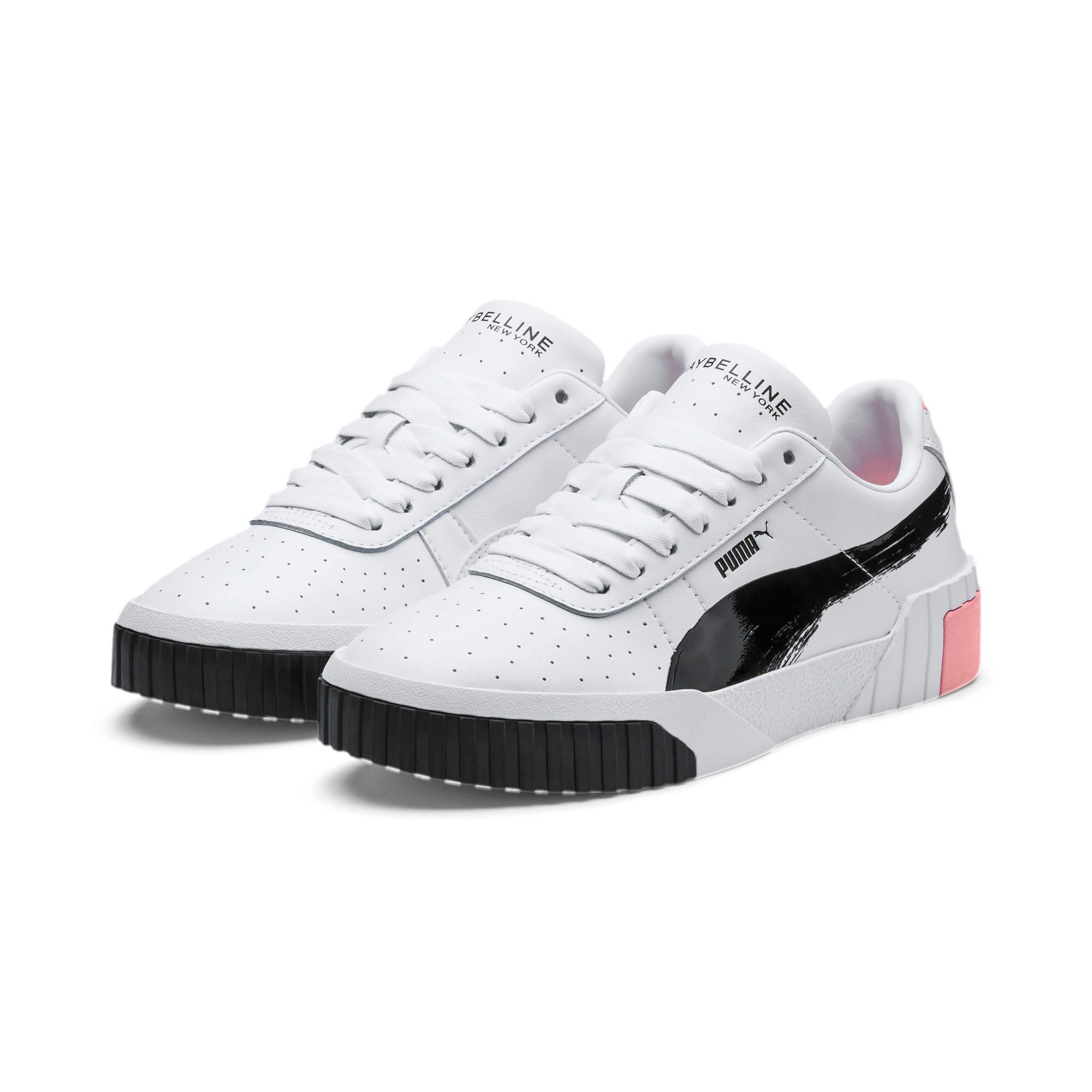 Thumbnail 2 of PUMA x MAYBELLINE Cali Women's Sneakers, Puma White-Puma Black, medium
