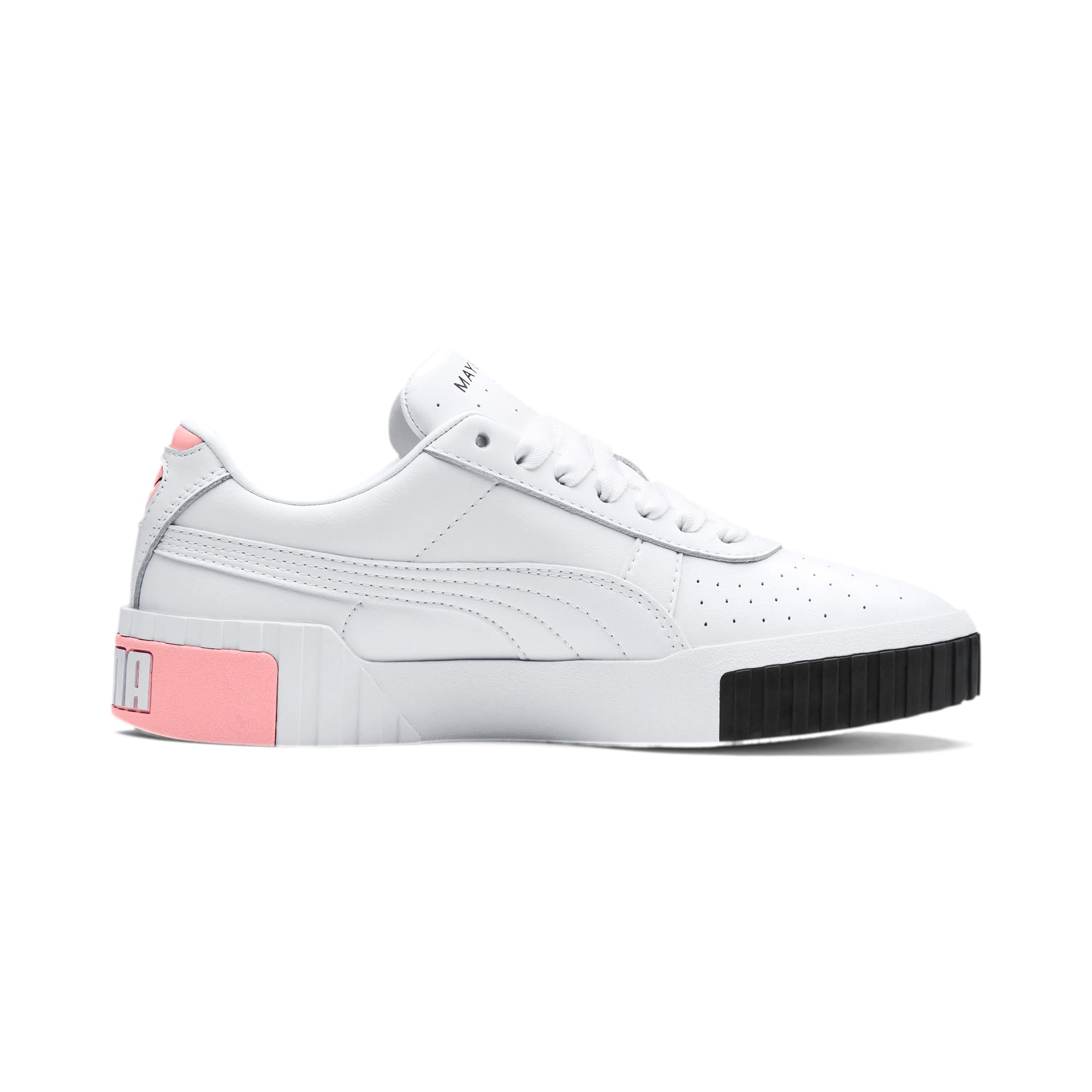 Thumbnail 5 of PUMA x MAYBELLINE Cali Women's Trainers, Puma White-Puma Black, medium