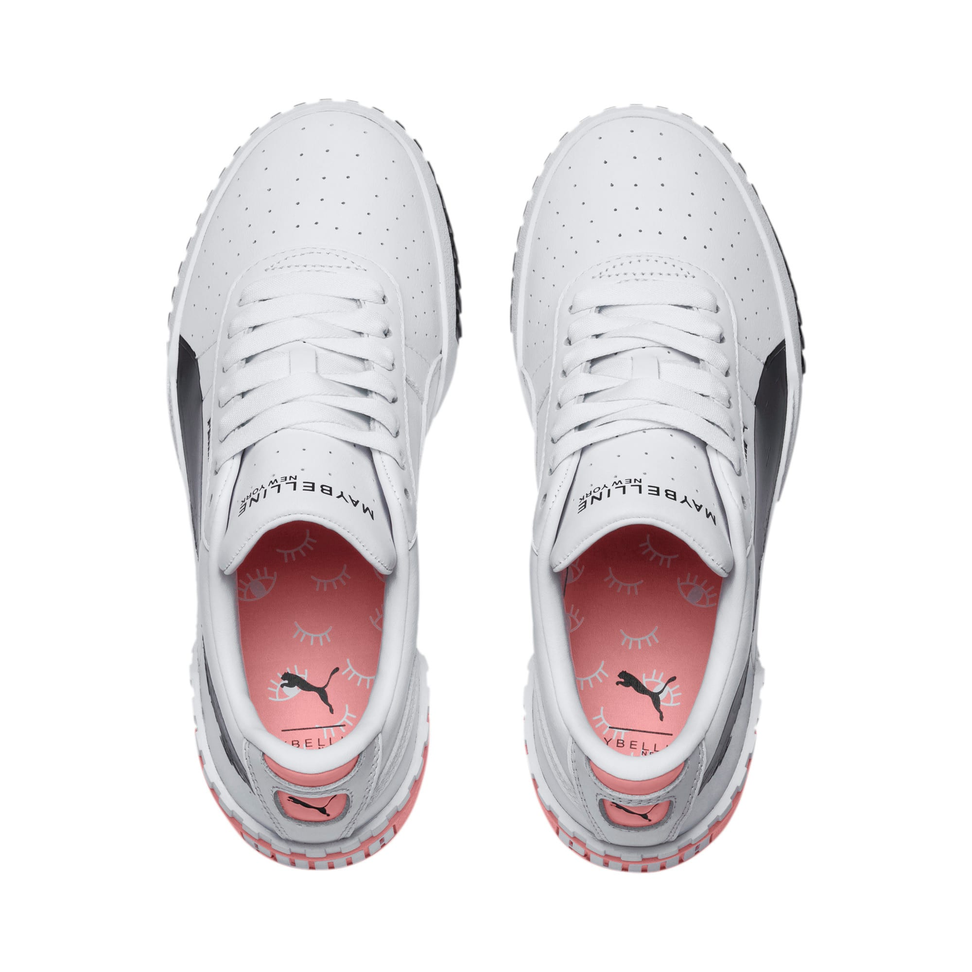 Thumbnail 6 of PUMA x MAYBELLINE Cali Women's Trainers, Puma White-Puma Black, medium
