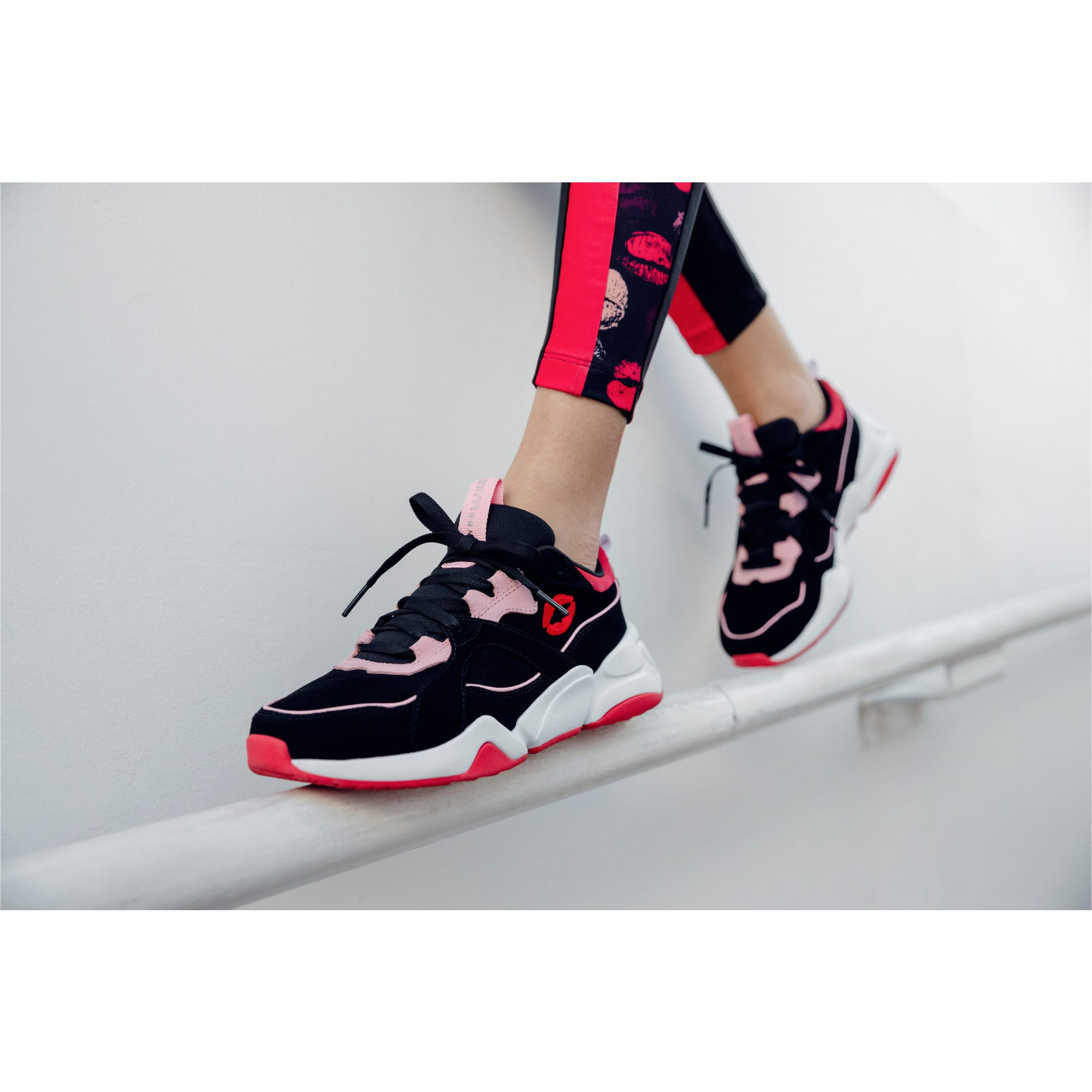 Thumbnail 8 of PUMA x MAYBELLINE Nova Women's Trainers, Puma Black-Candy Pink, medium