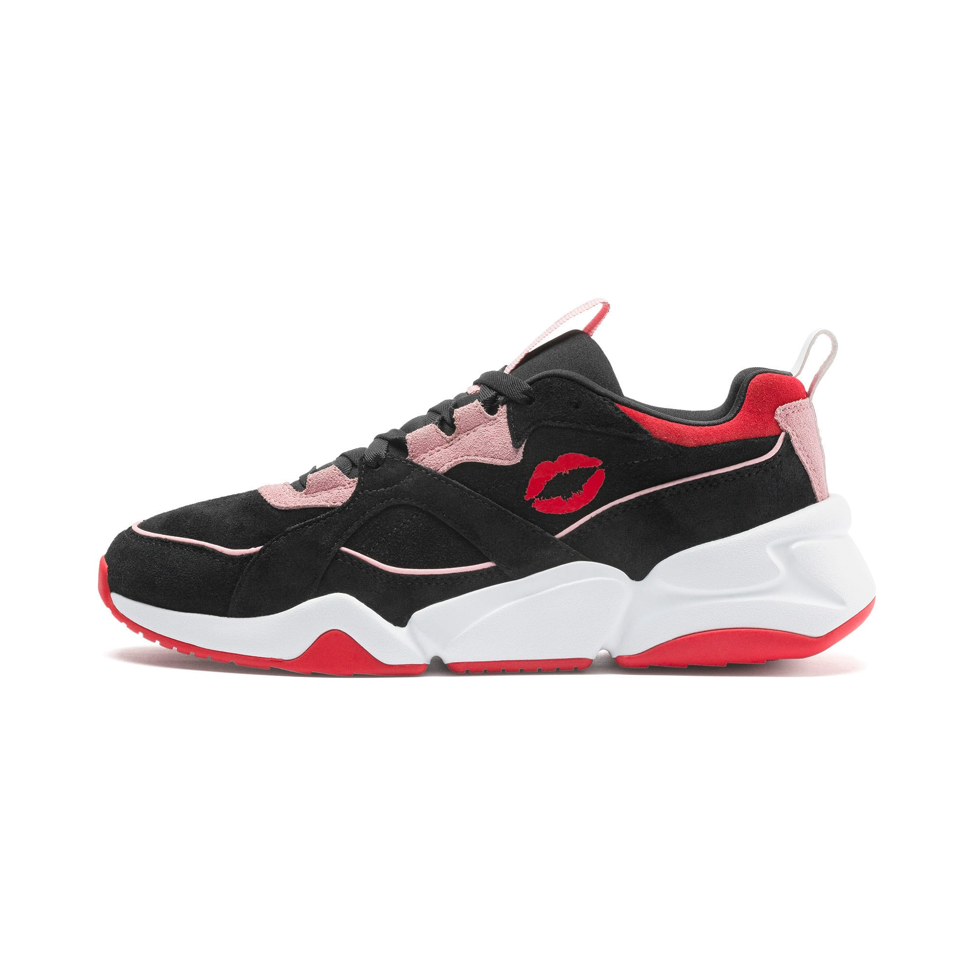 Thumbnail 1 of PUMA x MAYBELLINE Nova Women's Trainers, Puma Black-Candy Pink, medium