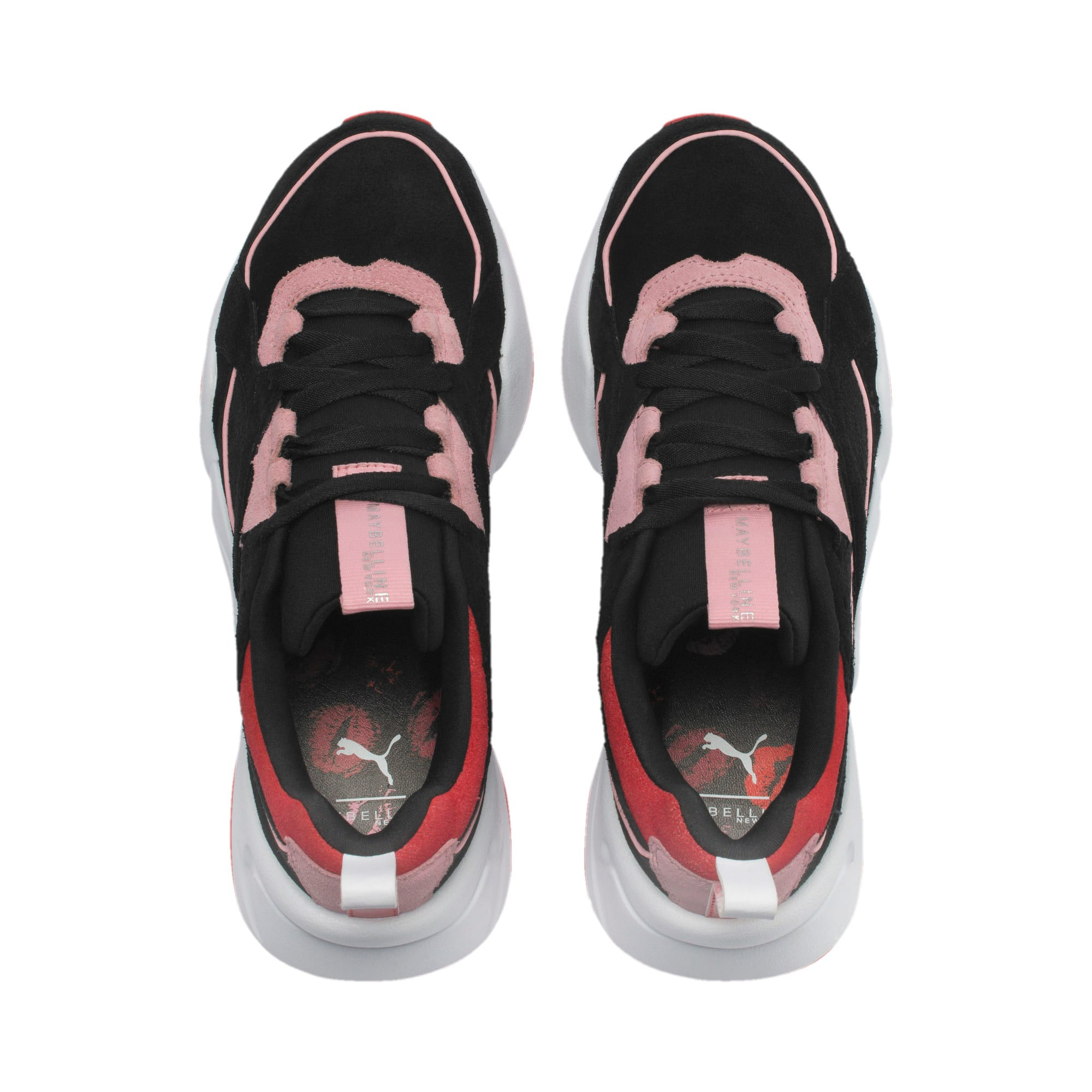 Thumbnail 6 of PUMA x MAYBELLINE Nova Women's Trainers, Puma Black-Candy Pink, medium