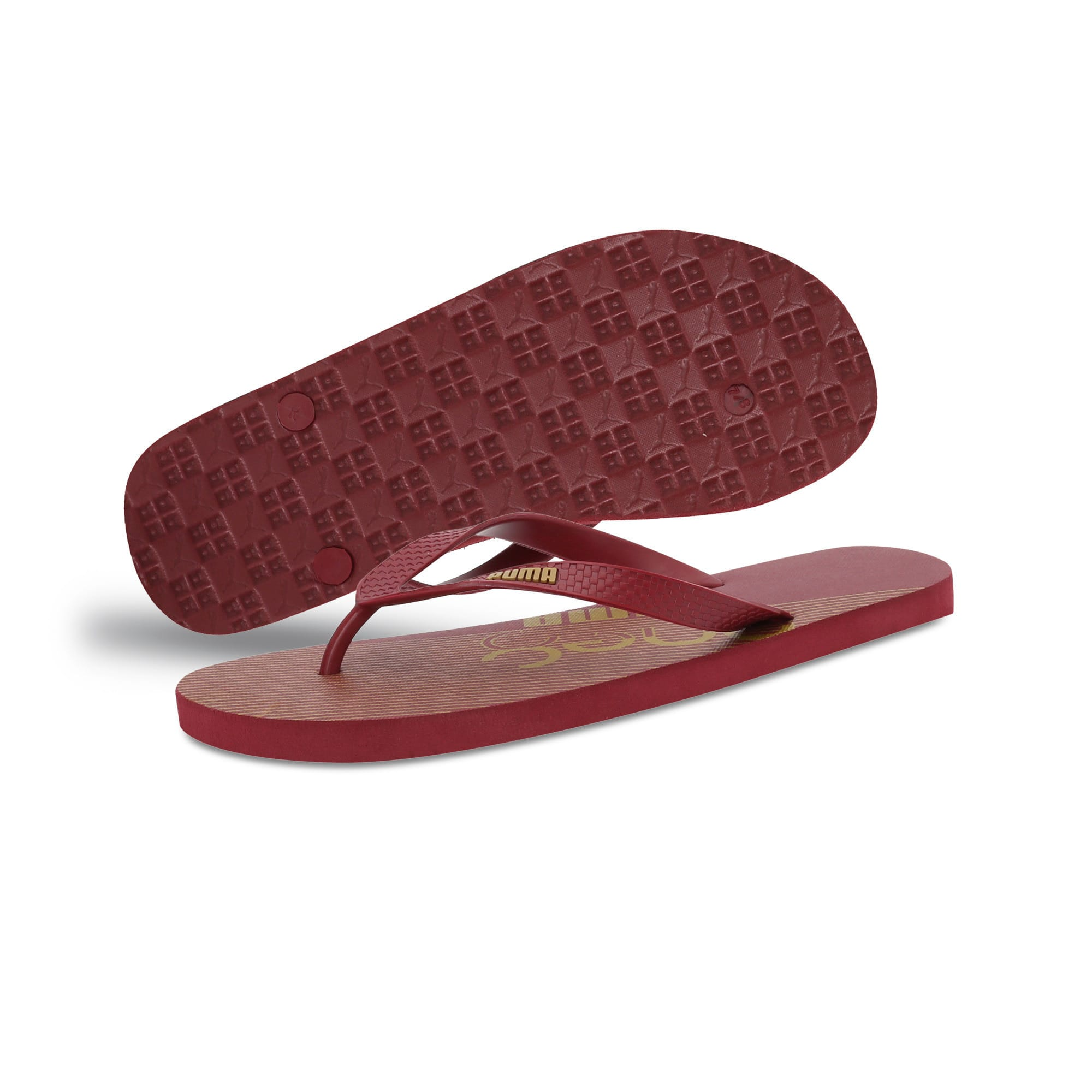 Thumbnail 2 of one8 FF IDP Unisex Flip Flops, Rhubarb-Puma Team Gold, medium-IND